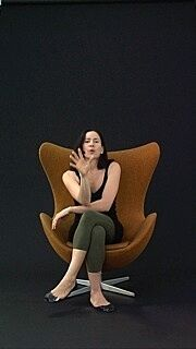 A still from a video of a woman.