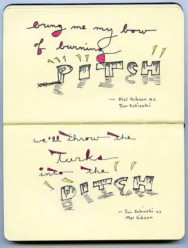 "Sketch of text ""Pitch""."