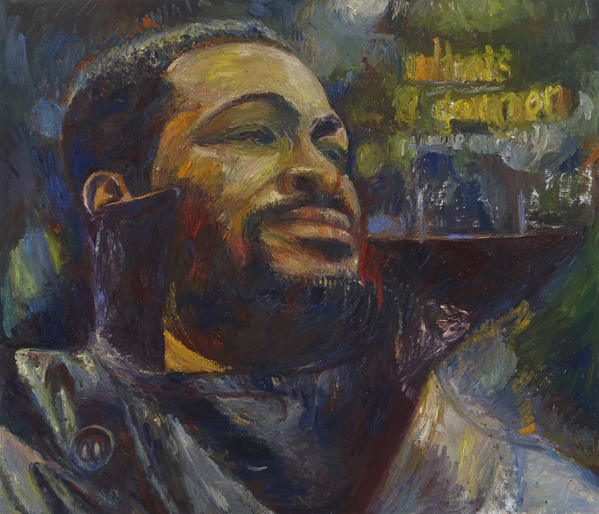 A painting of Marvin Gaye.