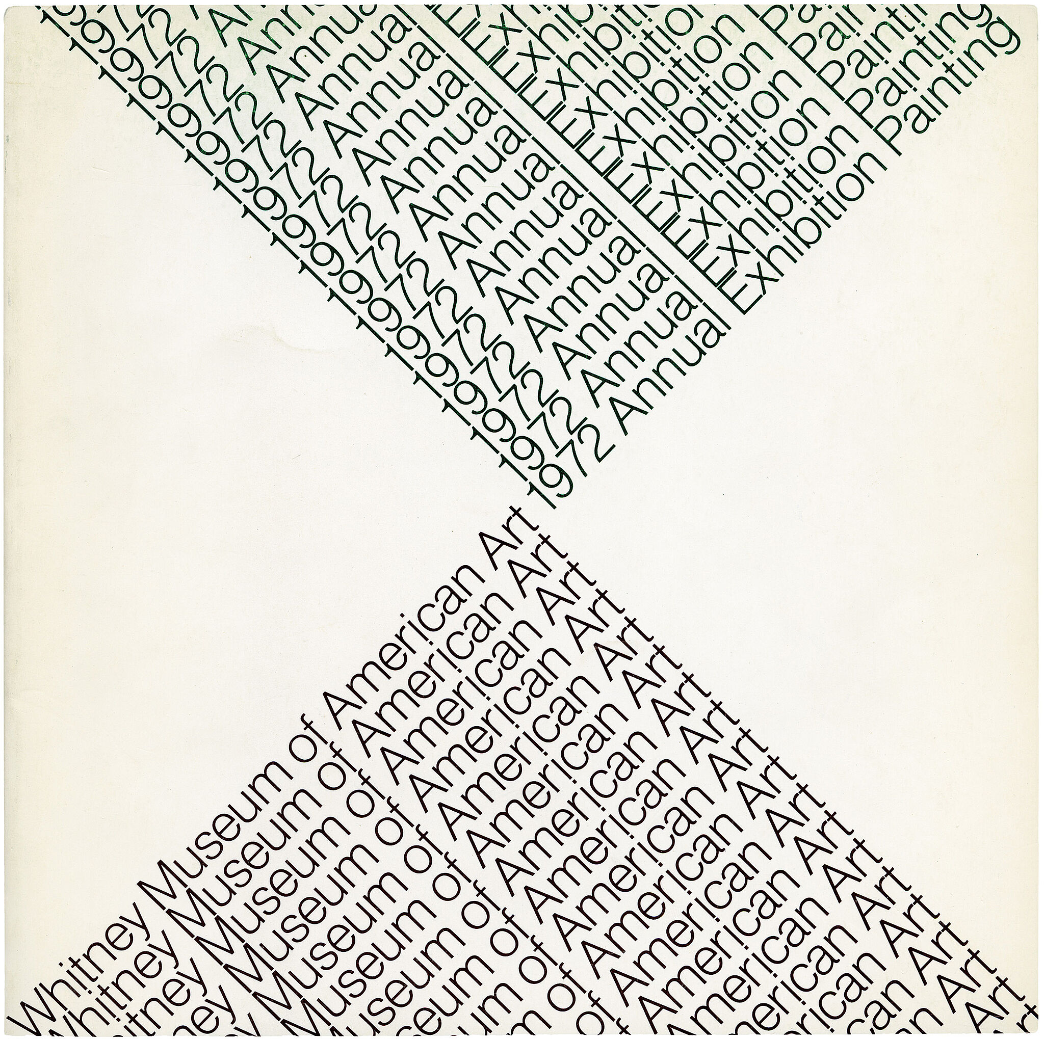 Catalogue cover for 1972 Annual Exhibition: Contemporary American Painting