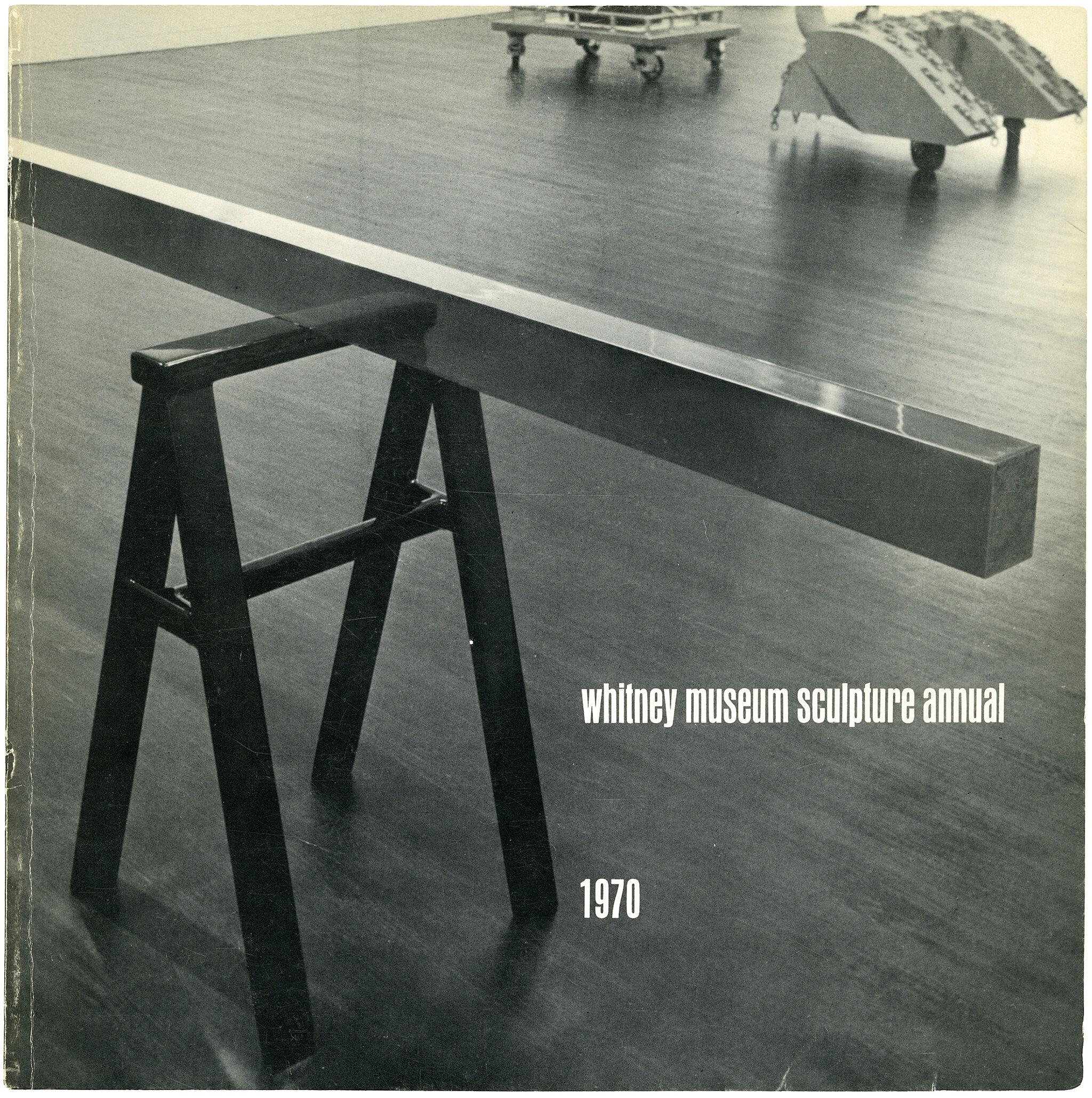 Catalogue cover for 1970 Annual exhibition: Contemporary American Sculpture