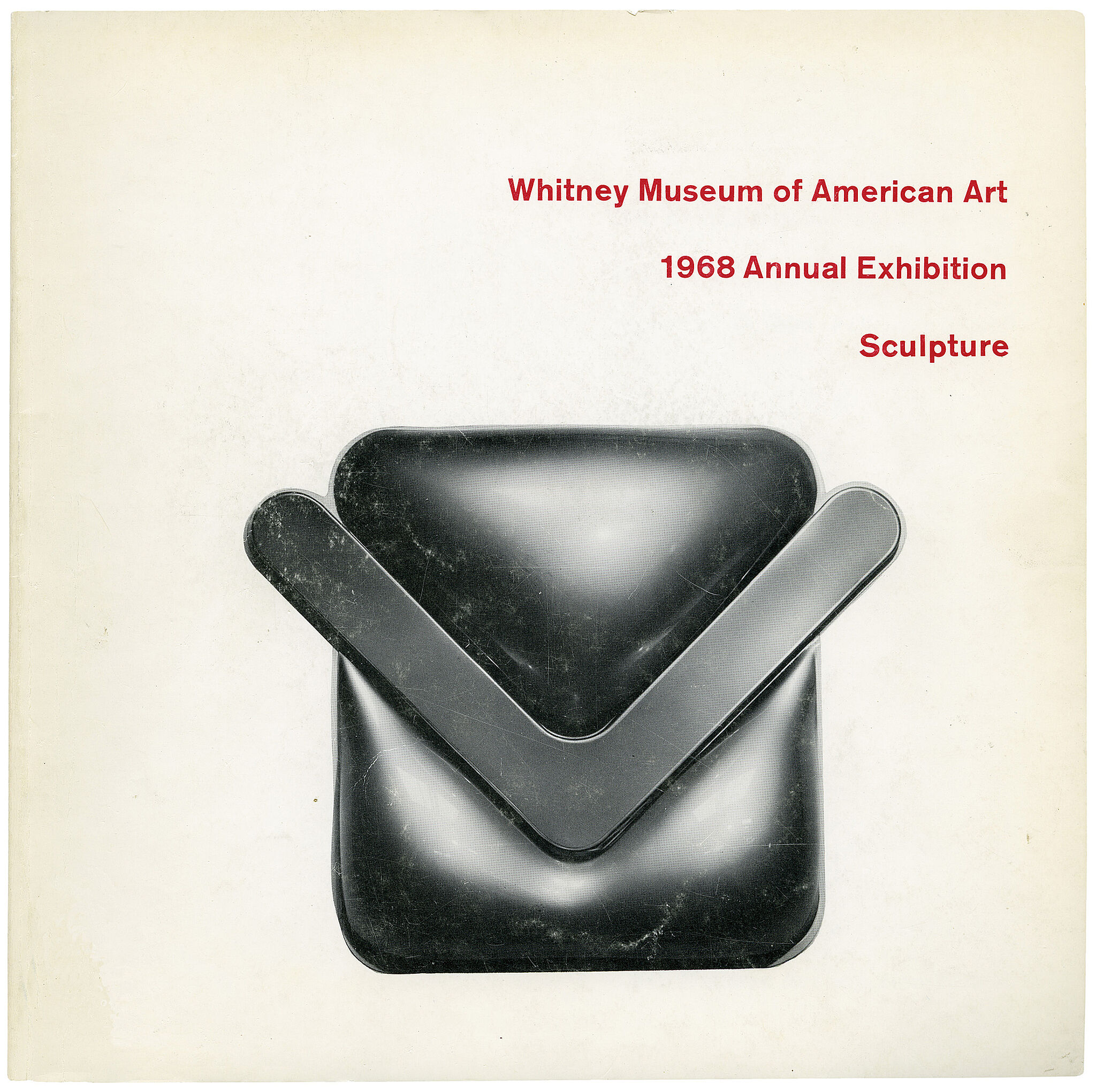 Catalogue cover for the 1968 Annual Exhibition: Contemporary American Sculpture