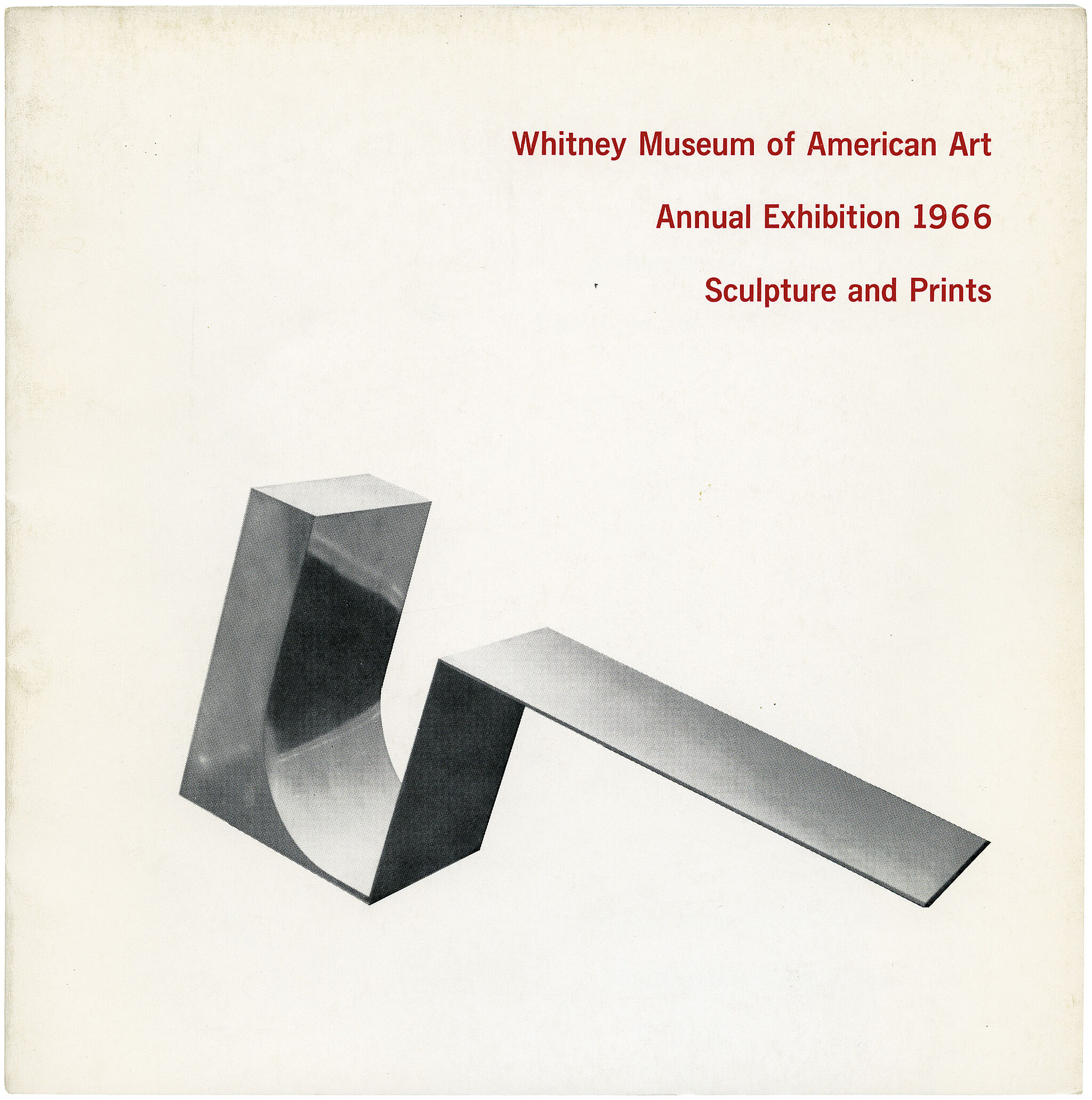 Catalogue cover for Annual Exhibition 1966: Contemporary Sculpture and Prints