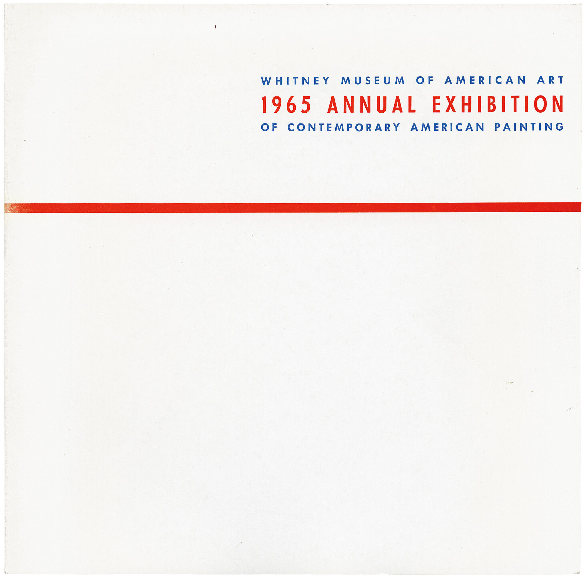 Cover for 1965 Annual Exhibition of Contemporary American Painting catalogue