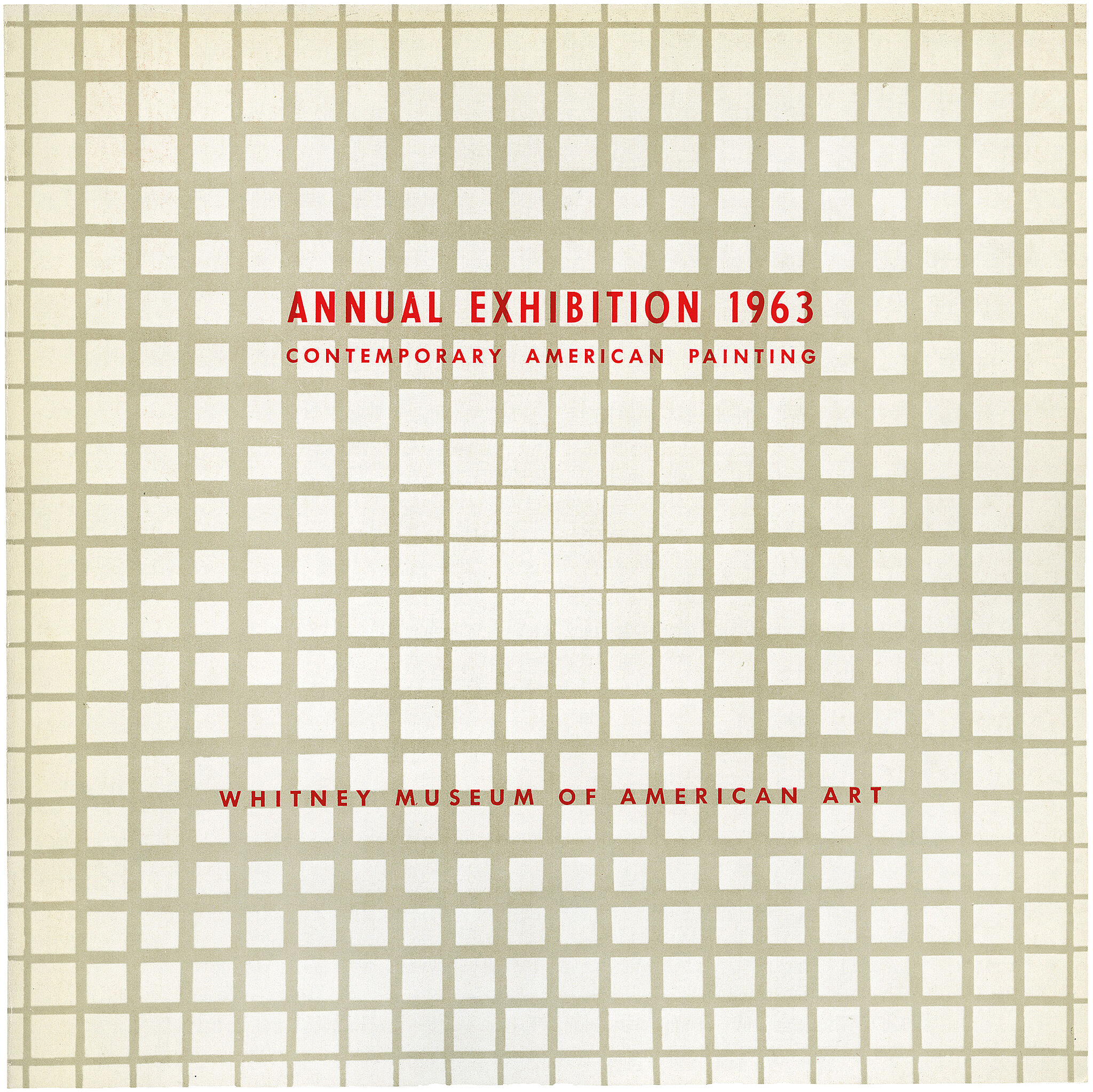 Catalogue cover for Annual Exhibition 1963: Contemporary American Painting
