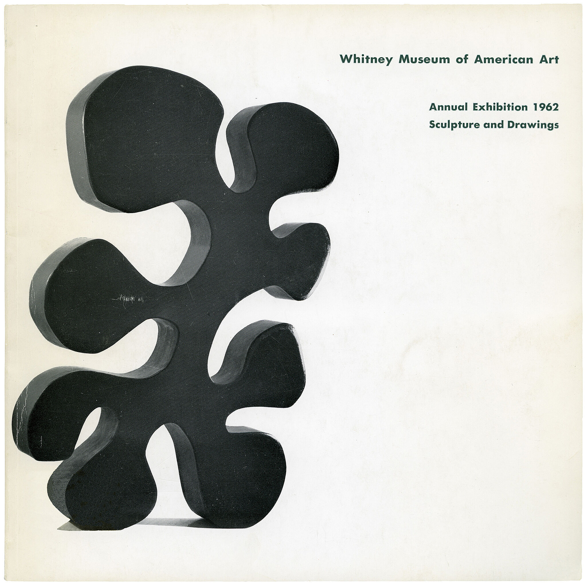 Catalogue cover for Annual Exhibition 1962: Contemporary Sculpture and Drawings