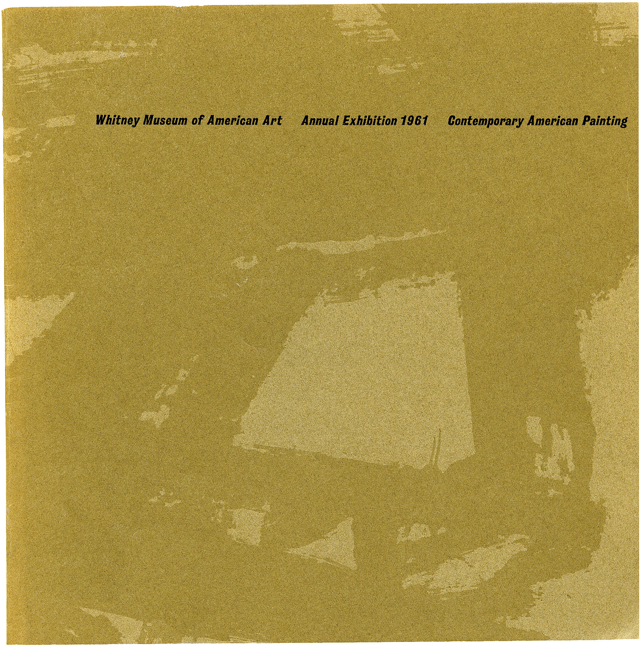 Catalogue cover for Annual Exhibition 1961: Contemporary American Painting