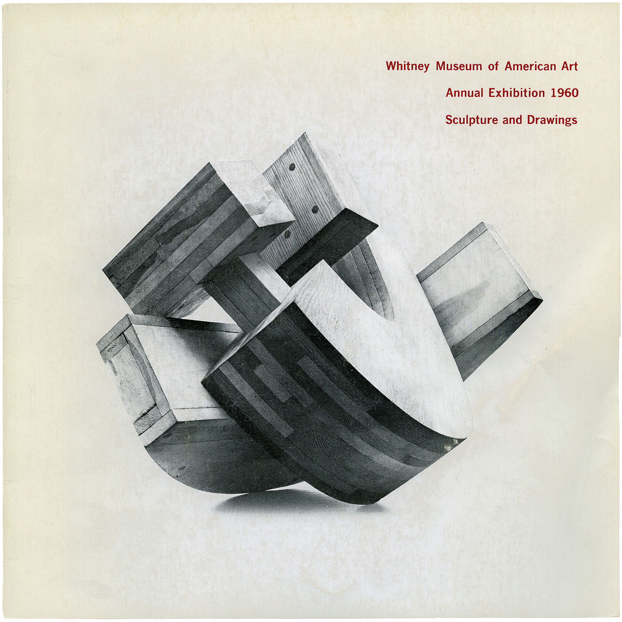 Catalogue cover for Annual Exhibition 1960: Contemporary Sculpture and Drawings