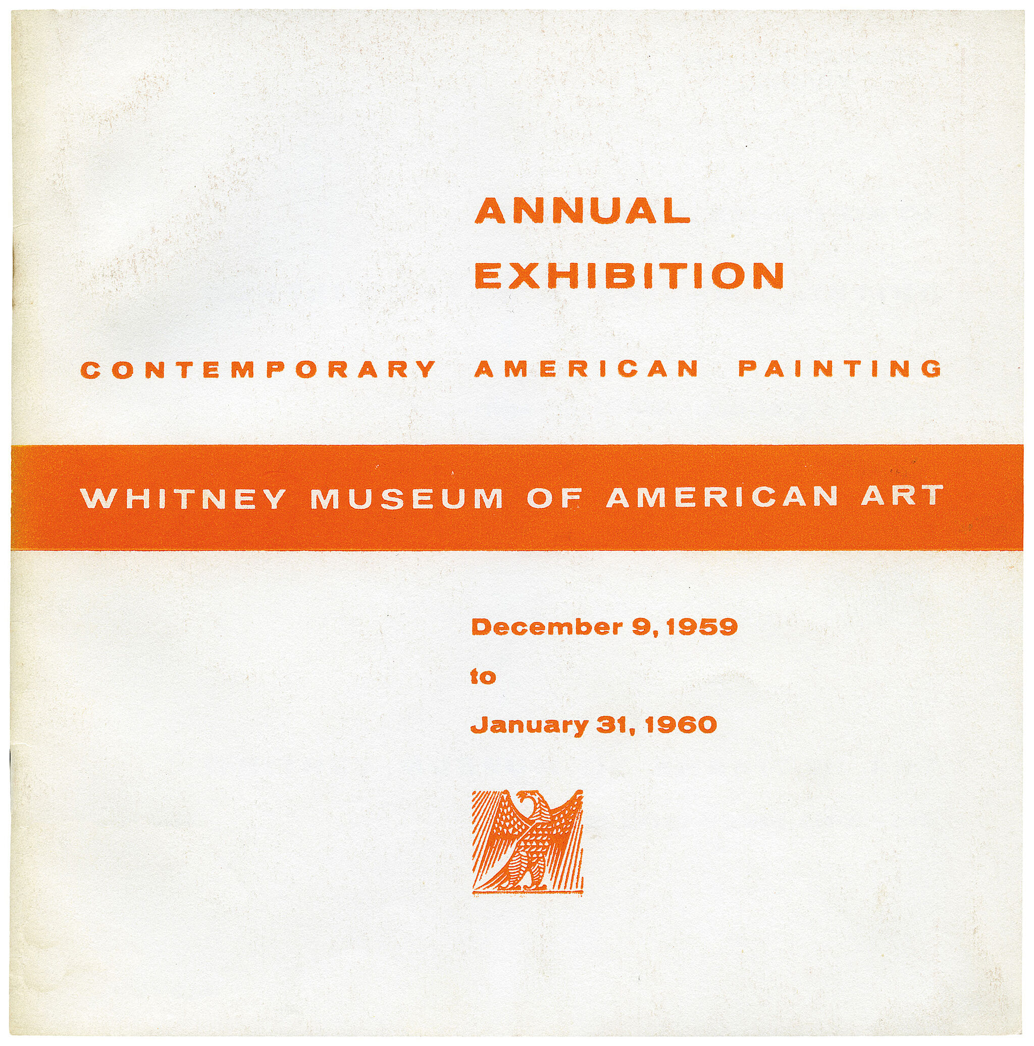 Cover for 1959 Annual Exhibition of Contemporary American Painting catalogue