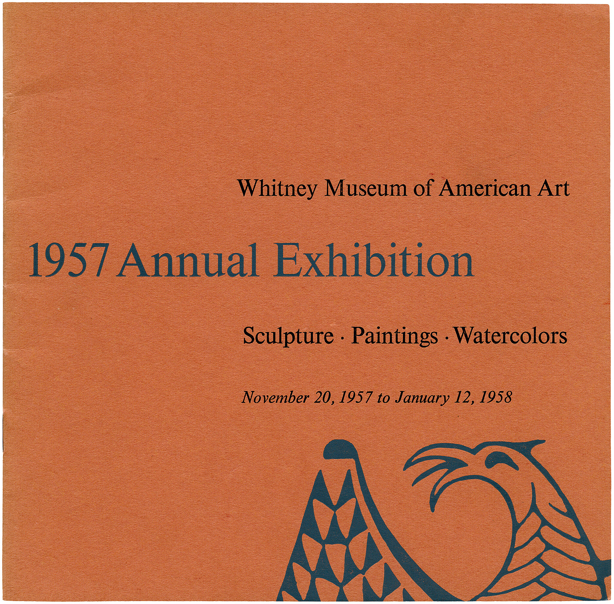 Catalogue cover for 1957 Annual Exhibition: Sculpture, Paintings, Watercolors