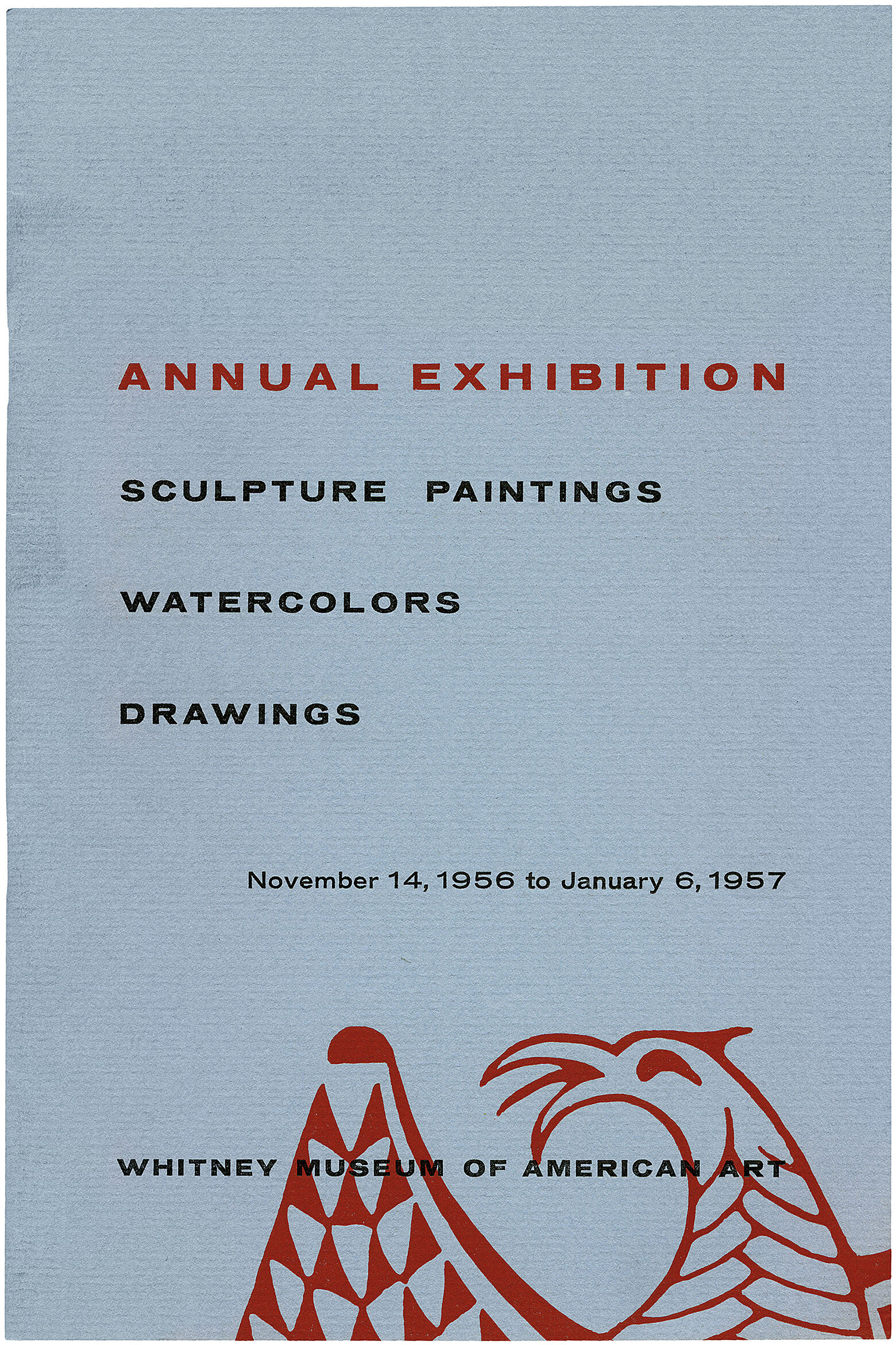 Catalogue cover for 1956 Annual Exhibition: Sculpture, Paintings, Watercolors and Drawings