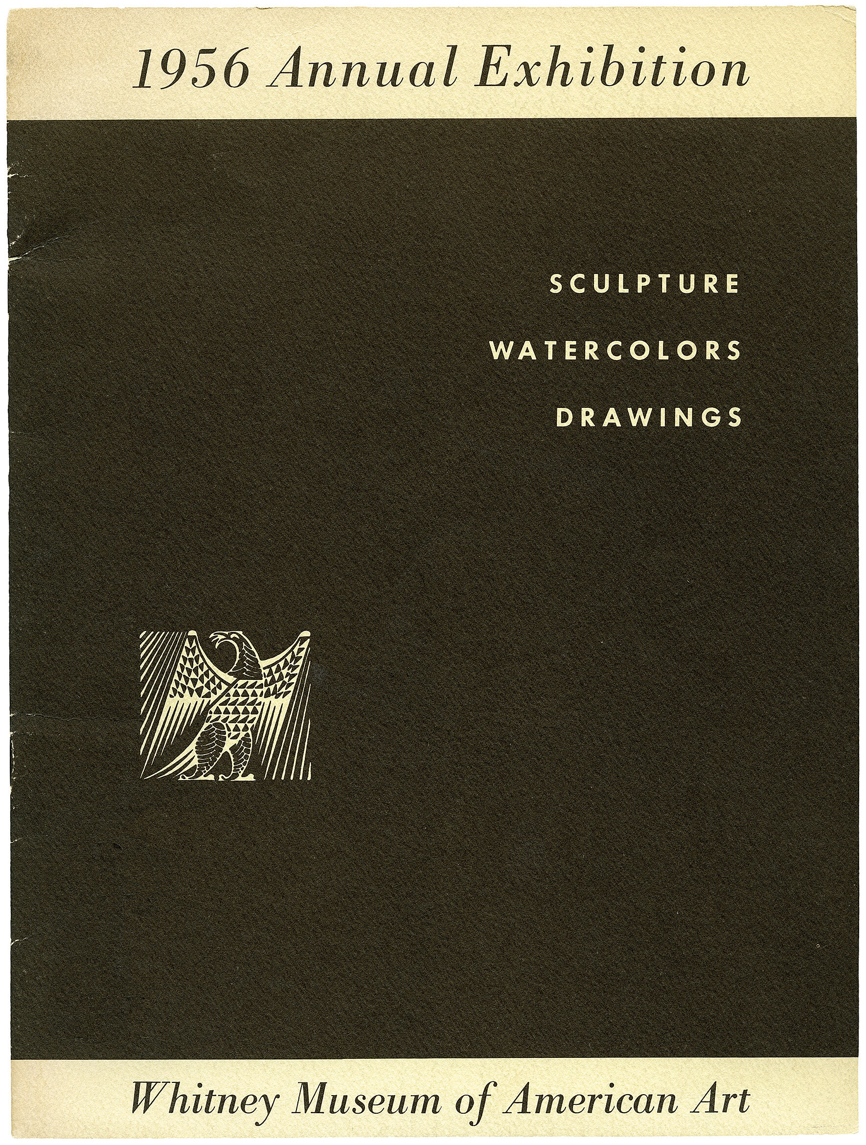 Cover for 1956 Annual Exhibition of Contemporary American Sculpture, Watercolors and Drawings catalogue