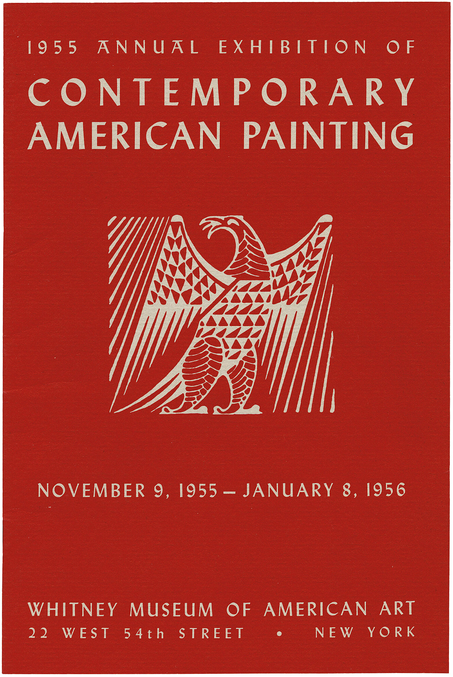 Cover for 1955 Annual Exhibition of Contemporary American Painting catalogue
