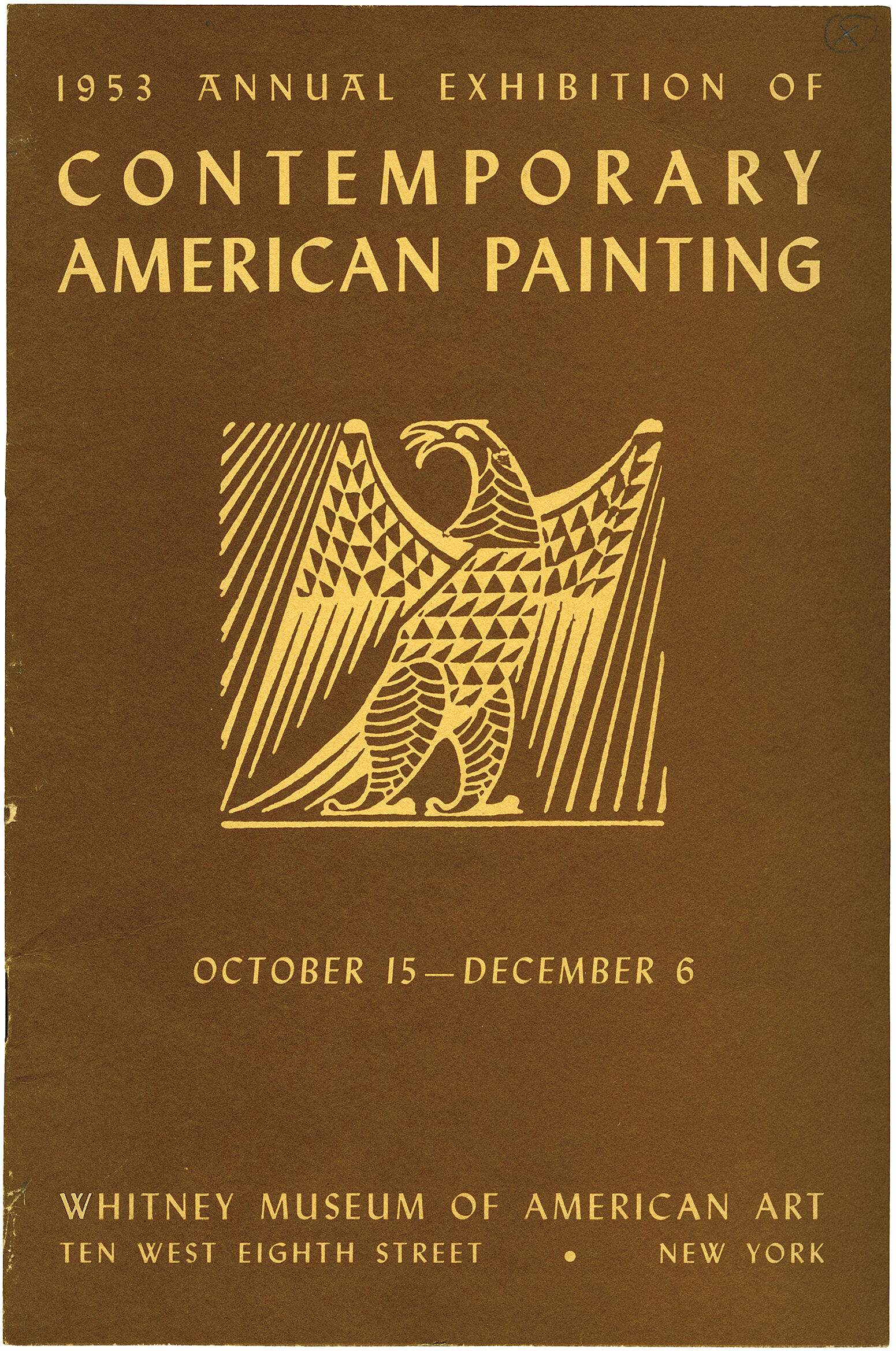 Cover for 1953 Annual Exhibition of Contemporary American Painting catalogue