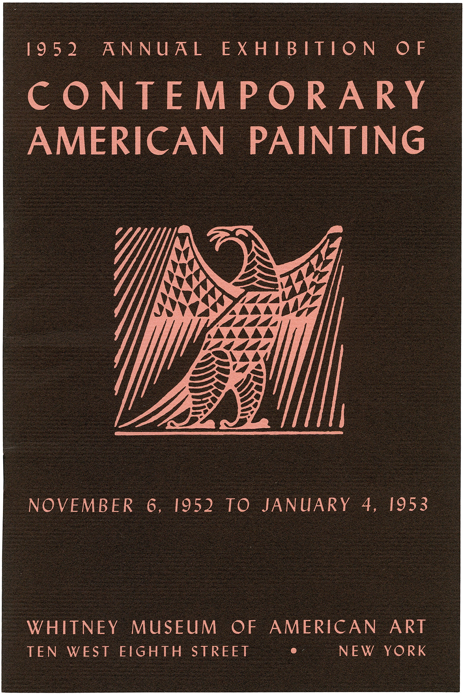 Cover for 1952 Annual Exhibition of Contemporary American Painting catalogue