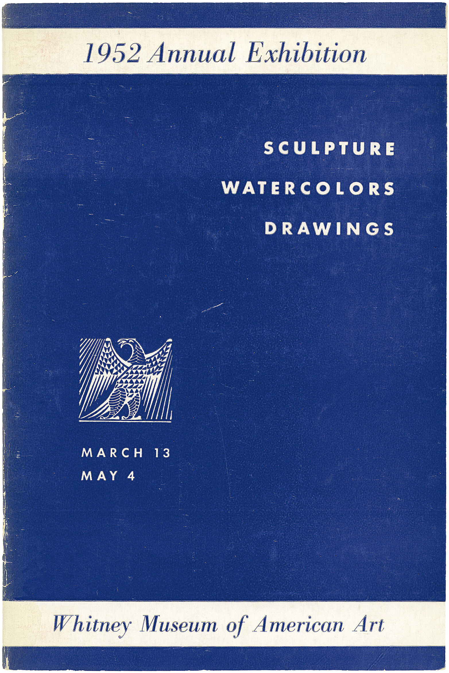 Cover for 1952 Annual Exhibition of Contemporary American Sculpture, Watercolors and Drawings catalogue