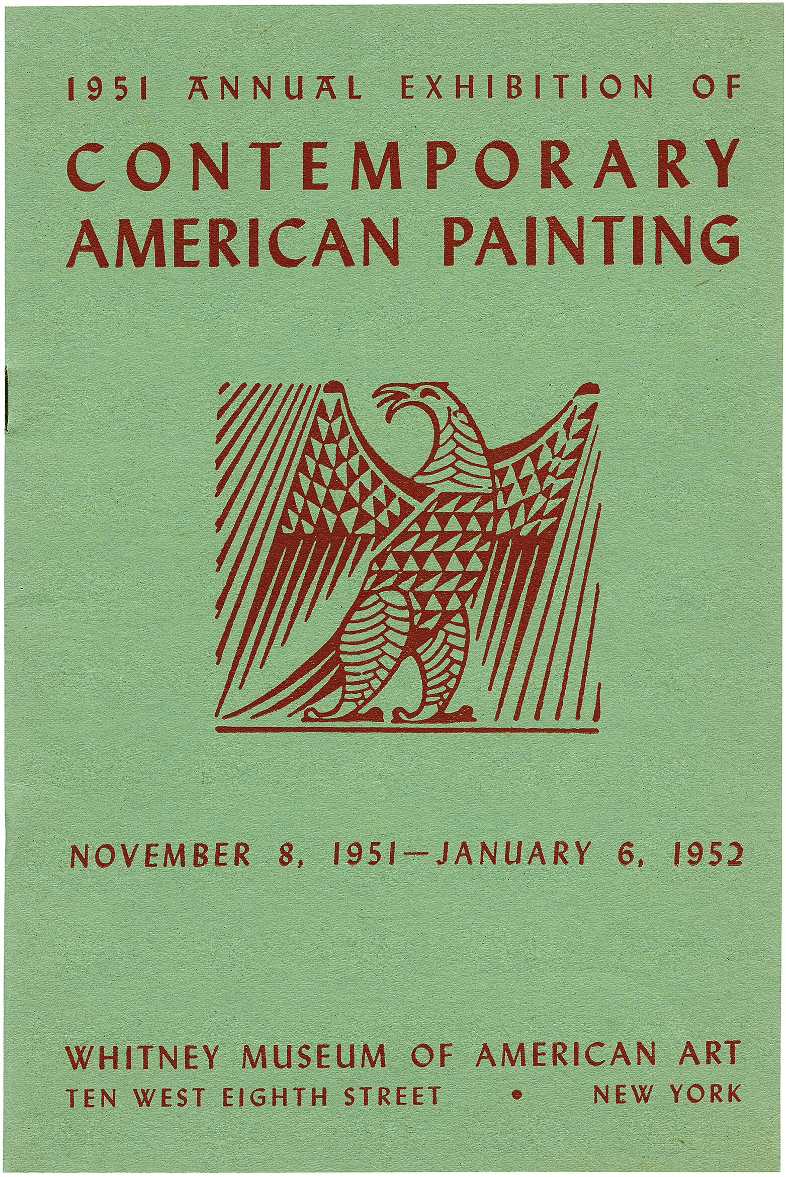 Cover for 1951 Annual Exhibition of Contemporary American Painting catalogue