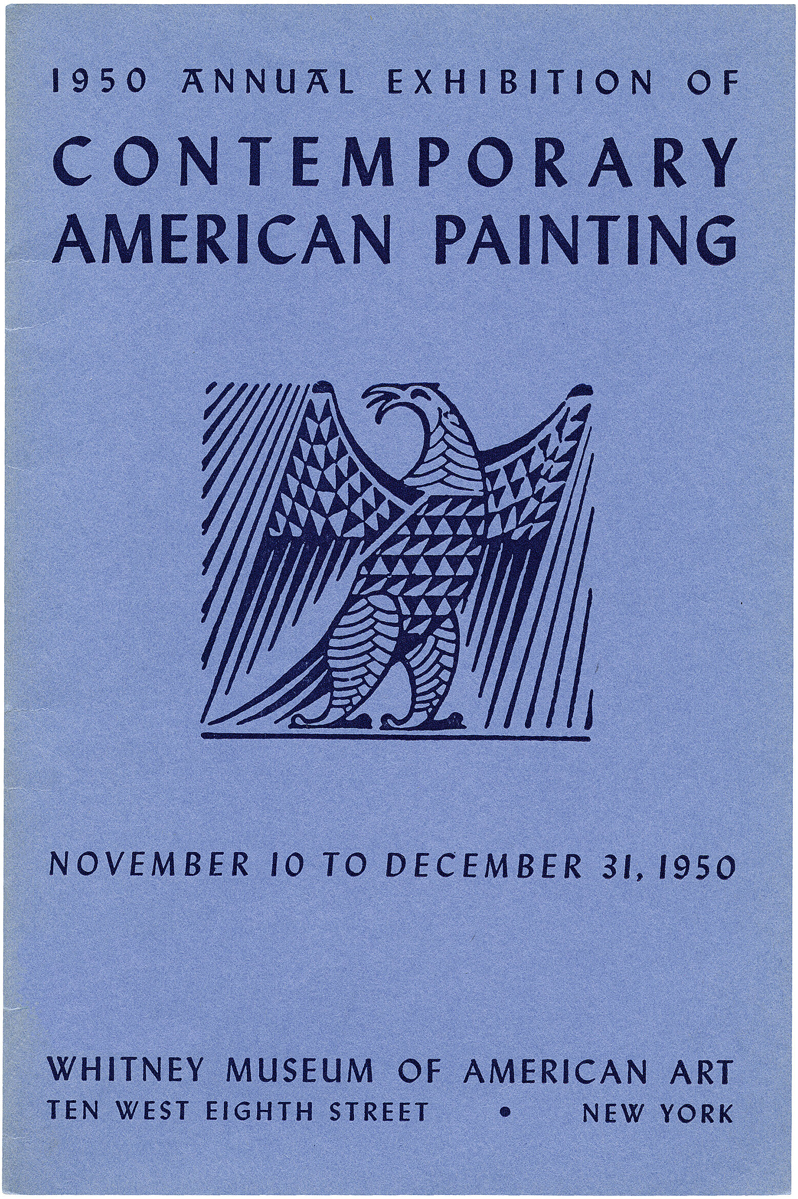 Cover for 1950 Annual Exhibition of Contemporary American Painting catalogue