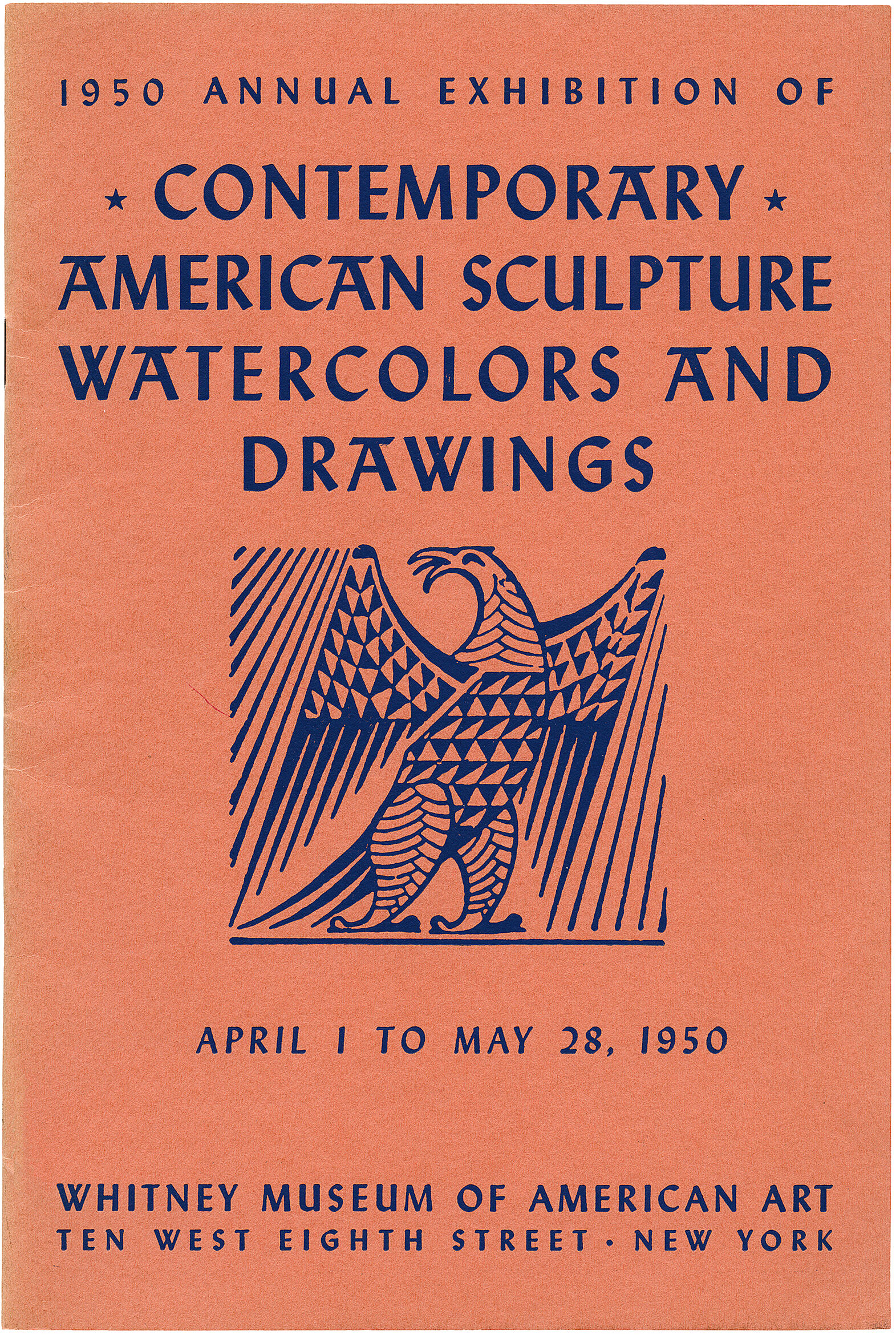Cover for 1950 Annual Exhibition of Contemporary American Sculpture, Watercolors and Drawings catalogue