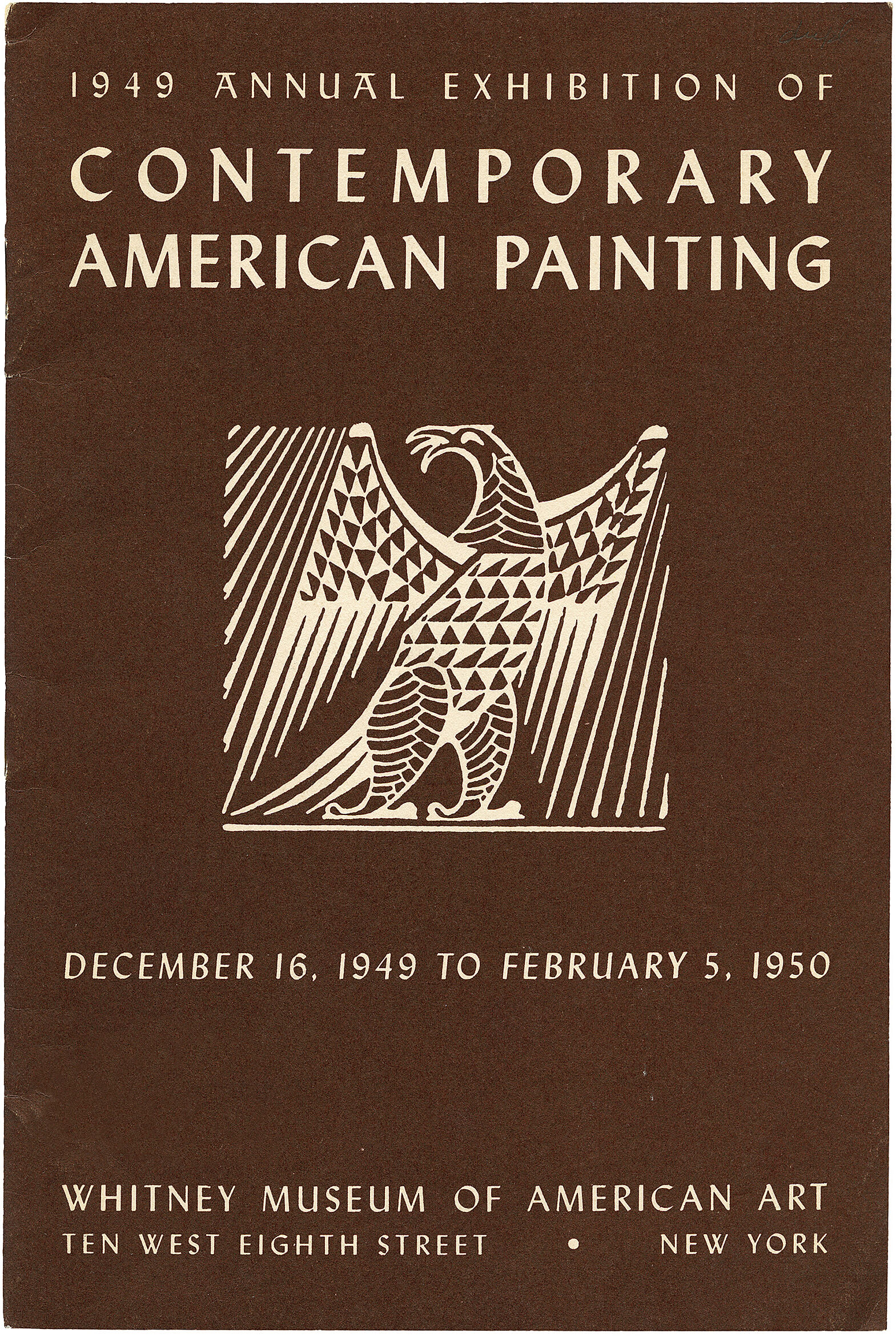 Cover for 1949 Annual Exhibition of Contemporary American Painting catalogue