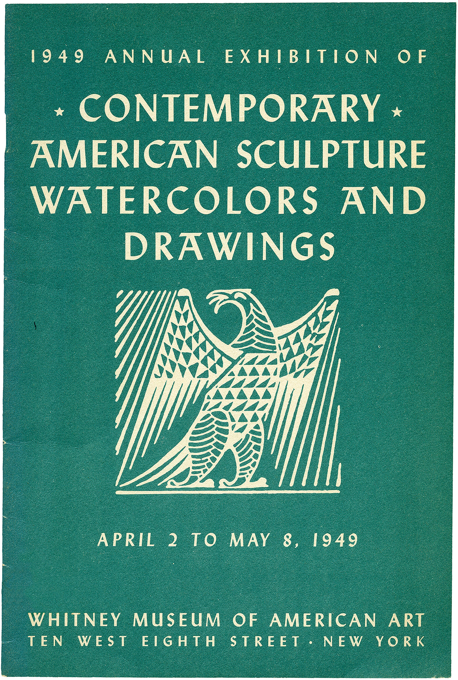 Cover for 1949 Annual Exhibition of Contemporary American Sculpture, Watercolors and Drawings catalogue