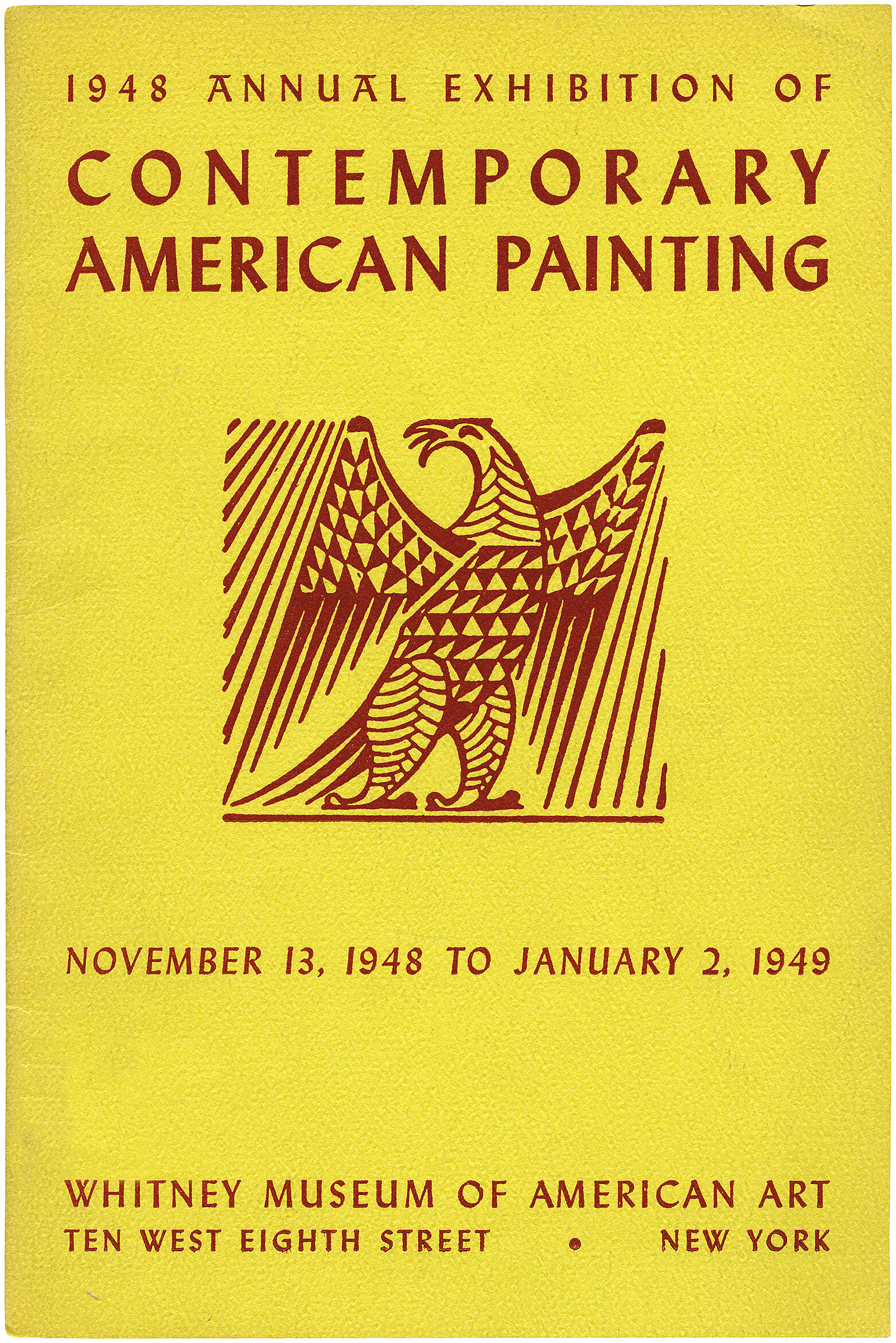 Cover for 1948 Annual Exhibition of Contemporary American Painting catalogue