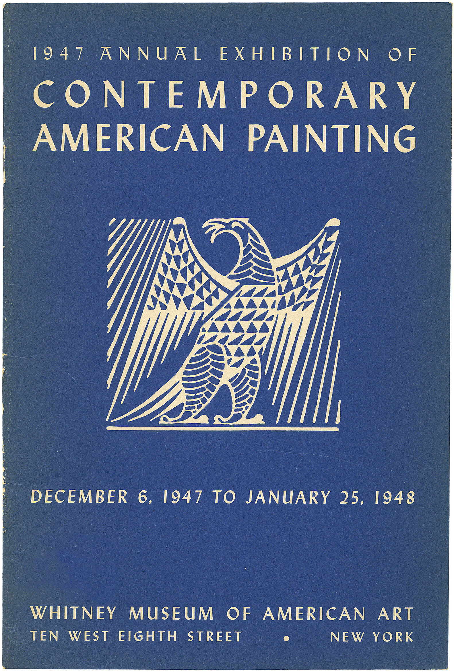 Cover for 1947 Annual Exhibition of Contemporary American Painting catalogue
