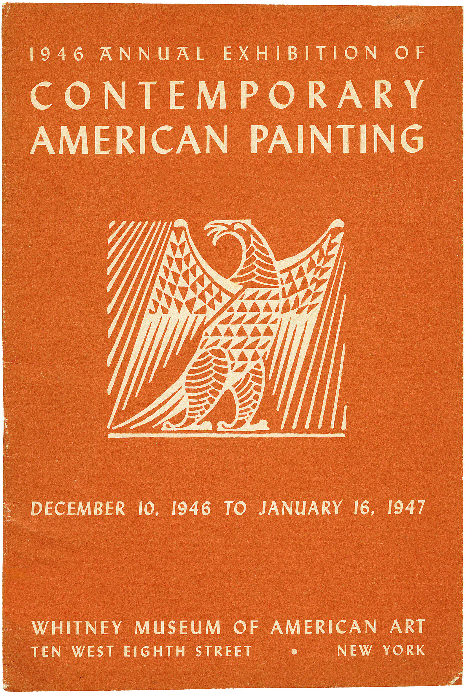 Cover for 1946 Annual Exhibition of Contemporary American Painting catalogue