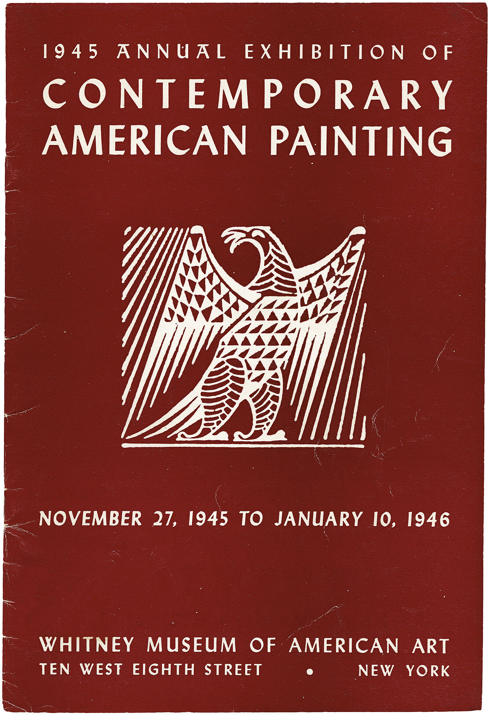 Cover for 1945 Annual catalogue