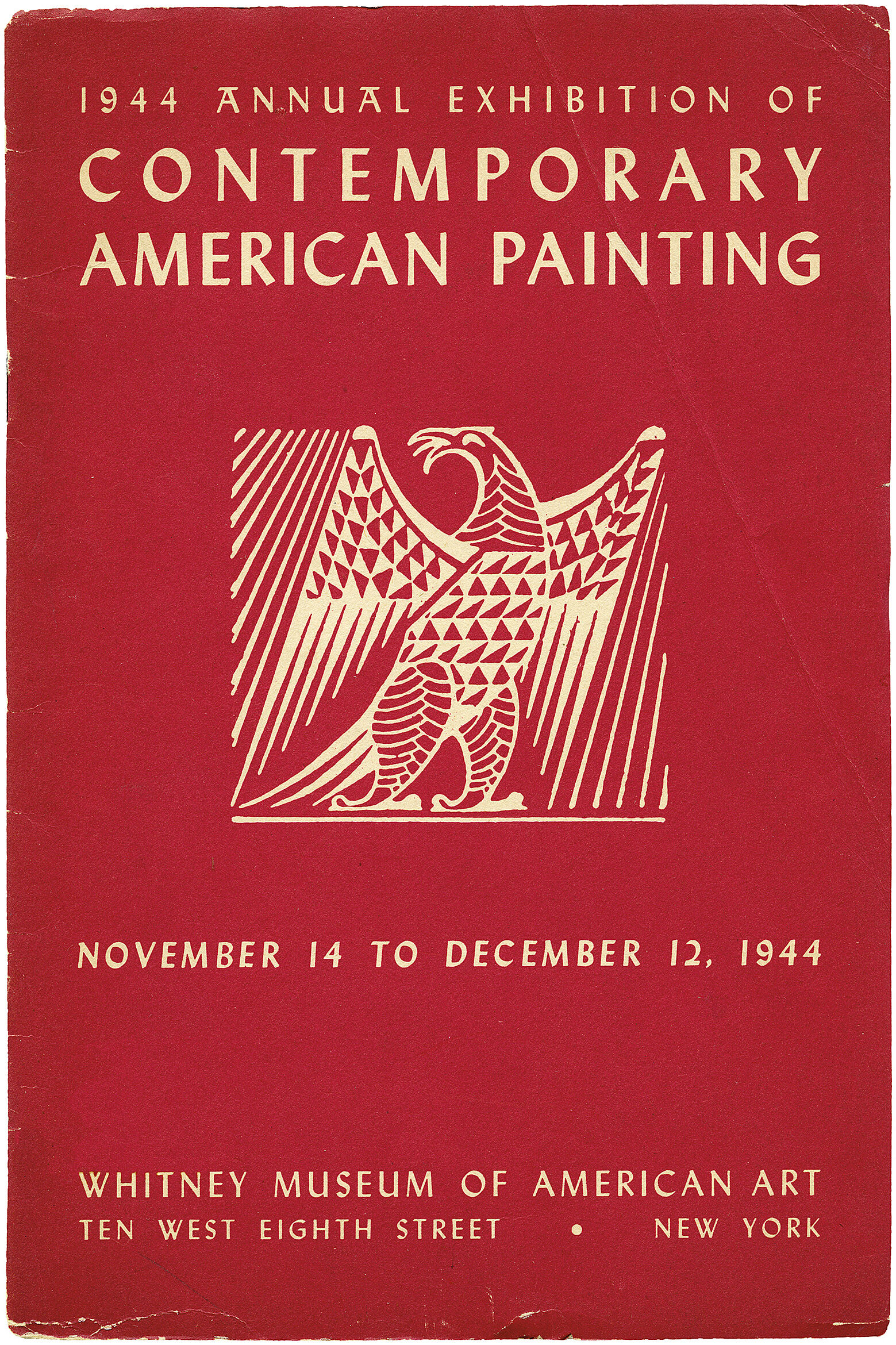 Cover for 1944 Annual Exhibition of Contemporary American Painting catalogue
