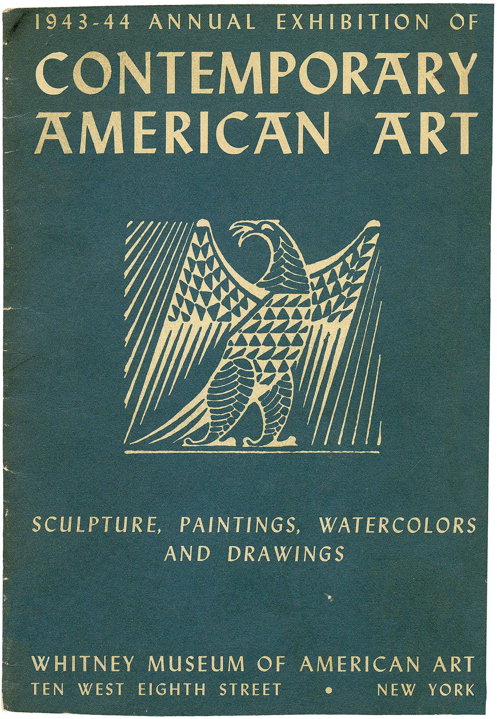 Cover for 1943 Annual Exhibition of Contemporary American Art catalogue