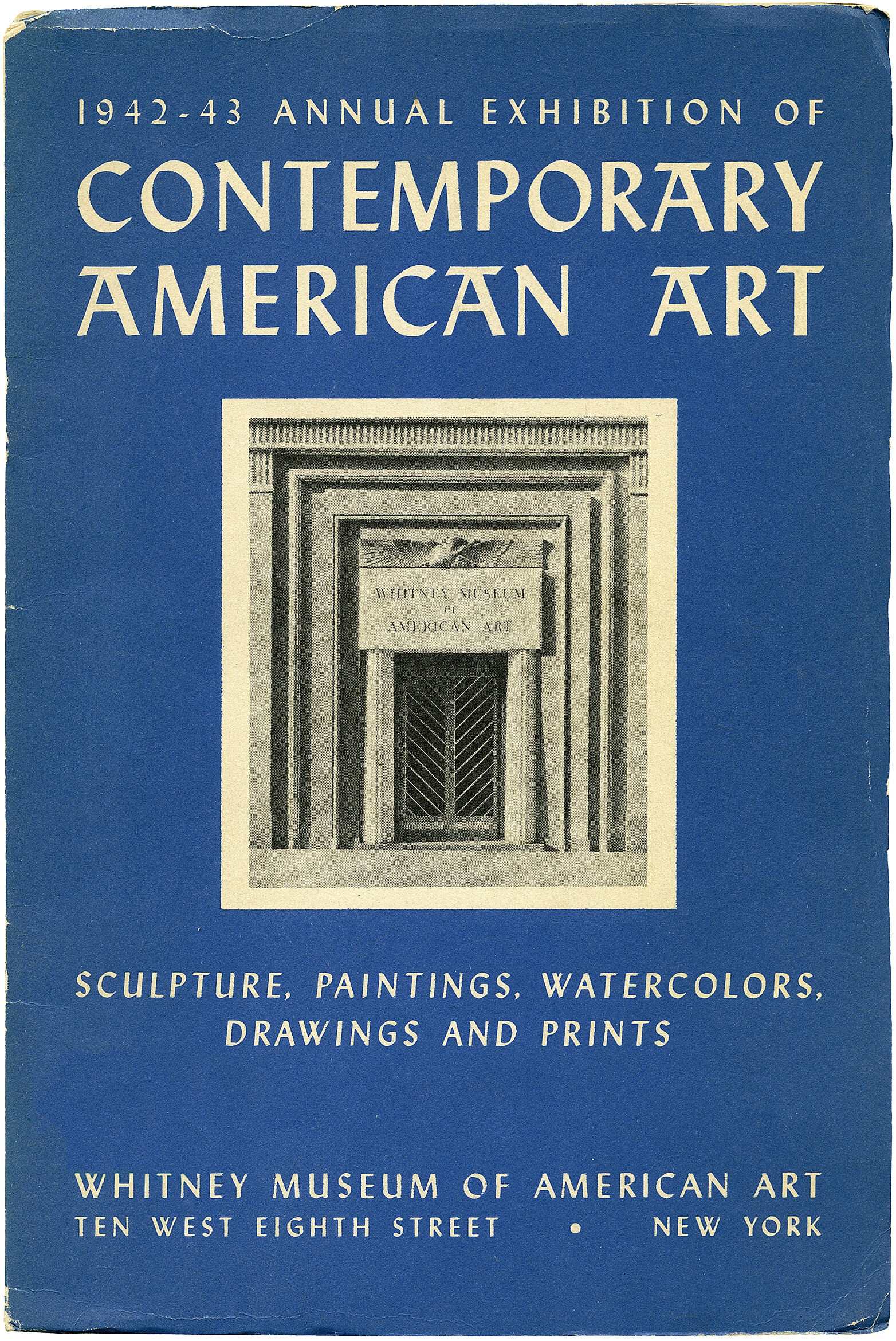 Cover for 1942 Annual Exhibition of Contemporary American Art catalogue
