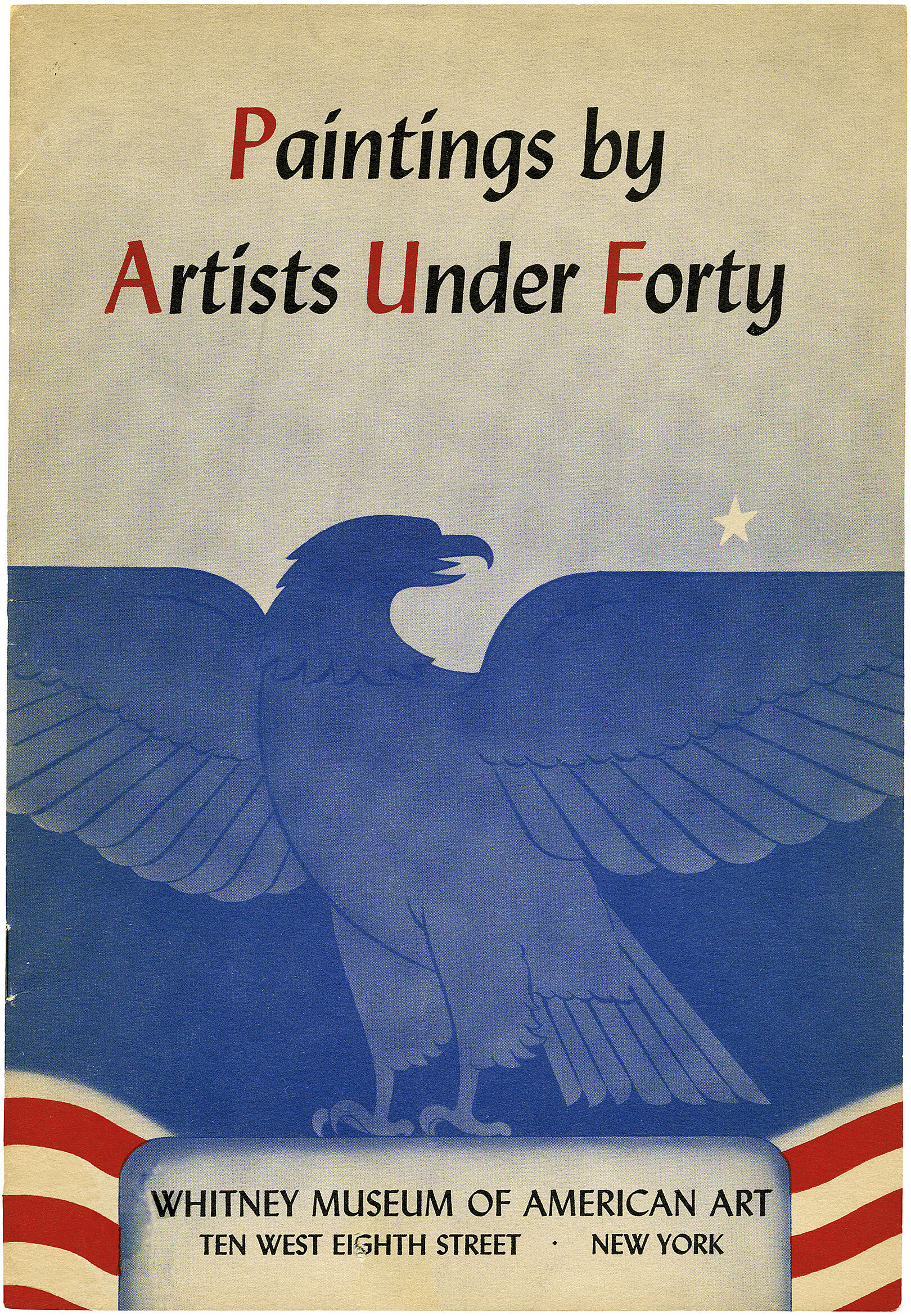 Cover for 1941 Annual Exhibition of Paintings by American Artists Under 40 catalogue