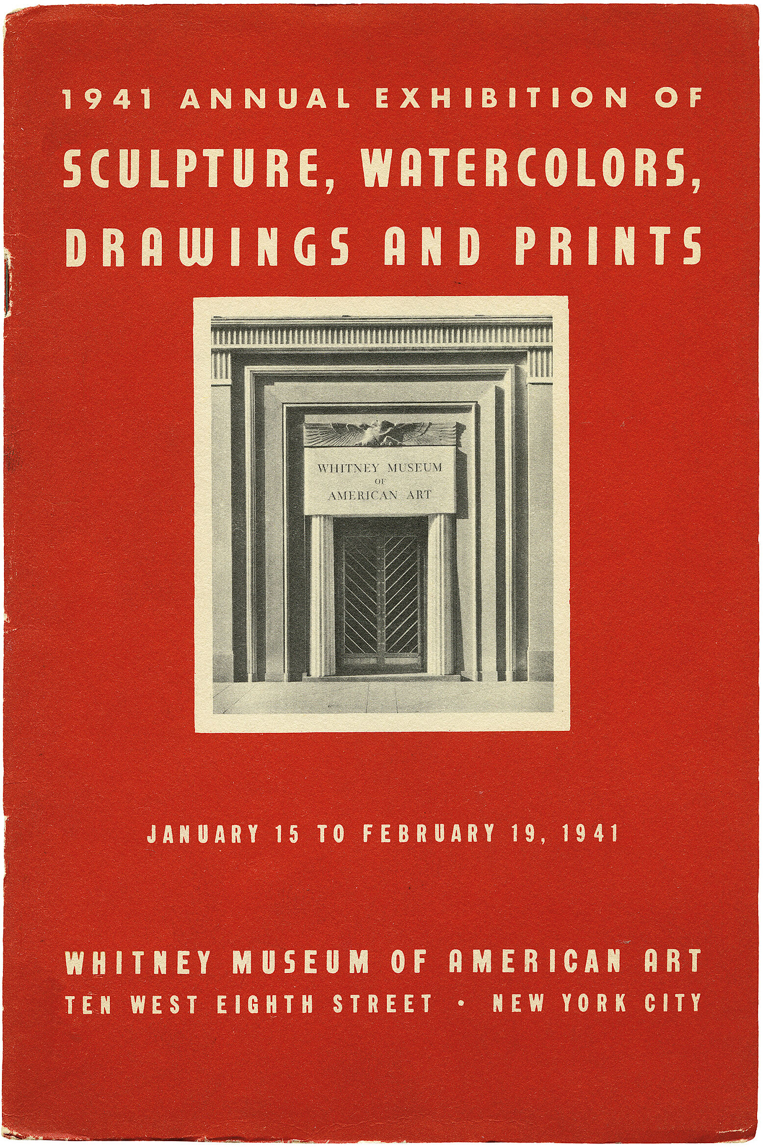 Cover for 1941 Annual Exhibition of Contemporary American Sculpture, Watercolors, Drawings and Prints catalogue
