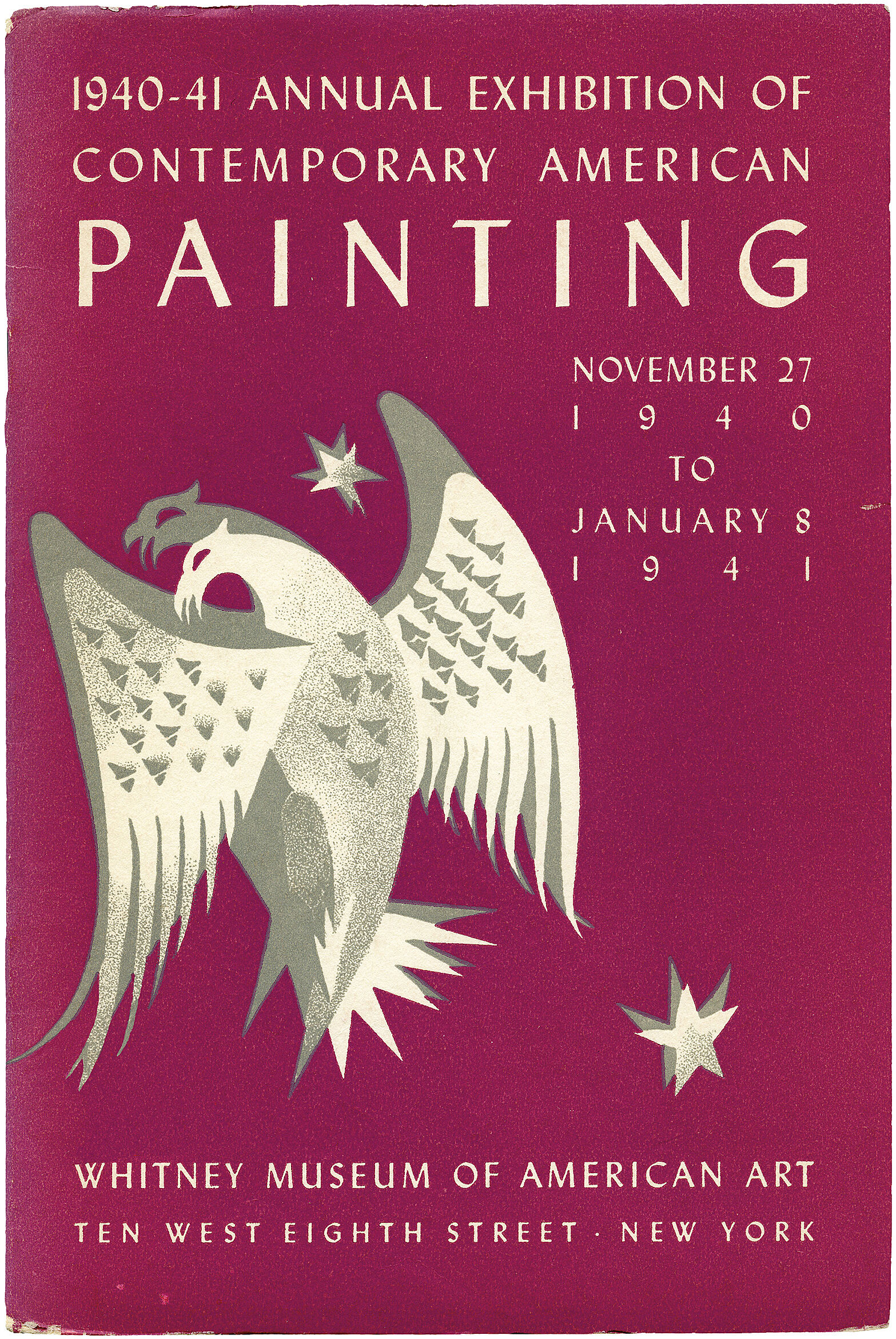 Cover for 1940 Annual Exhibition of Contemporary American Painting catalogue