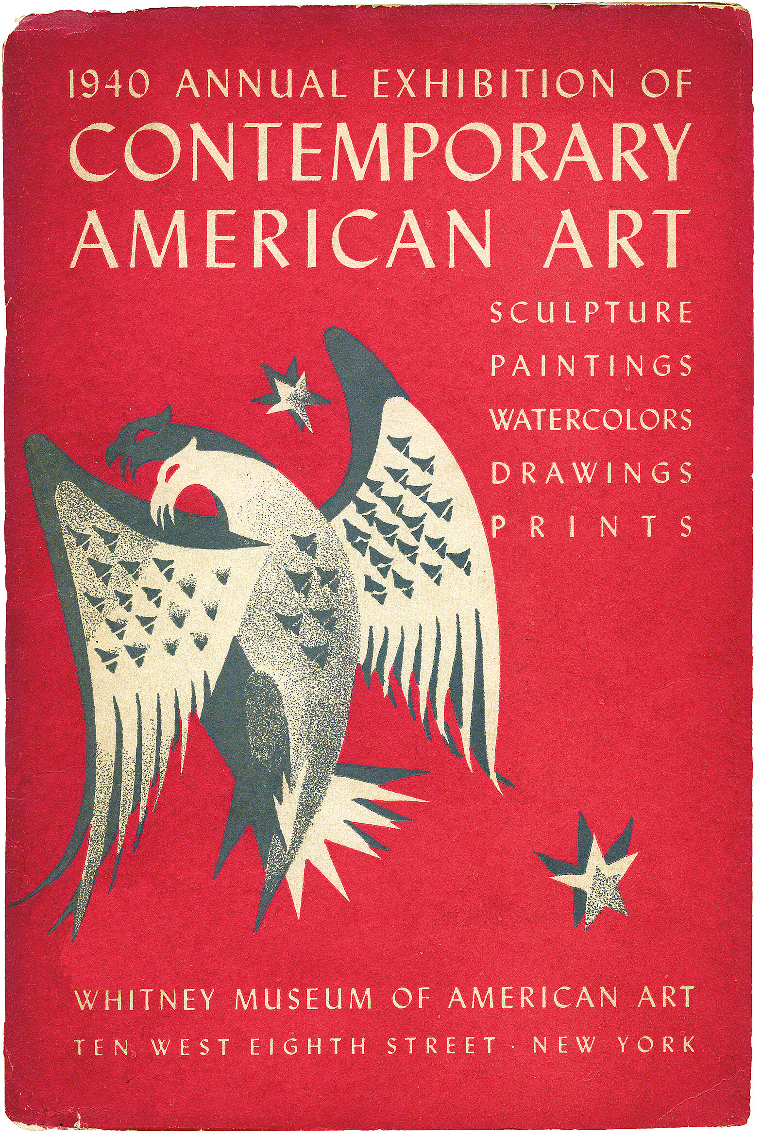 Cover for 1940 Annual Exhibition of Contemporary American Art catalogue