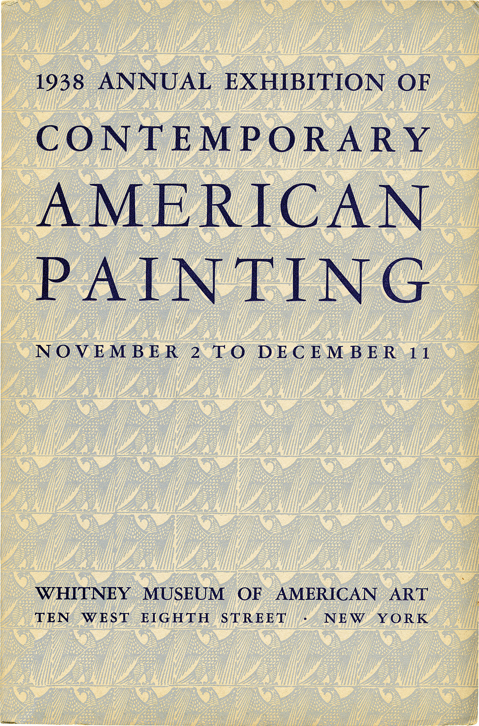Cover for 1938 Annual Exhibition of Contemporary American Painting catalogue