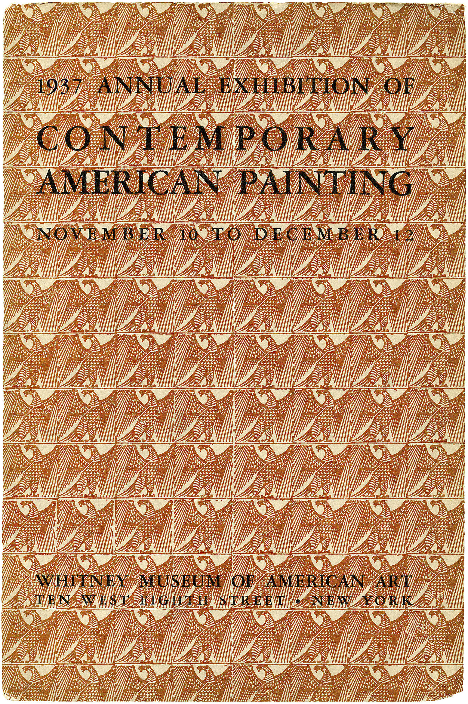 Cover for 1937 Annual Exhibition of Contemporary American Painting catalogue
