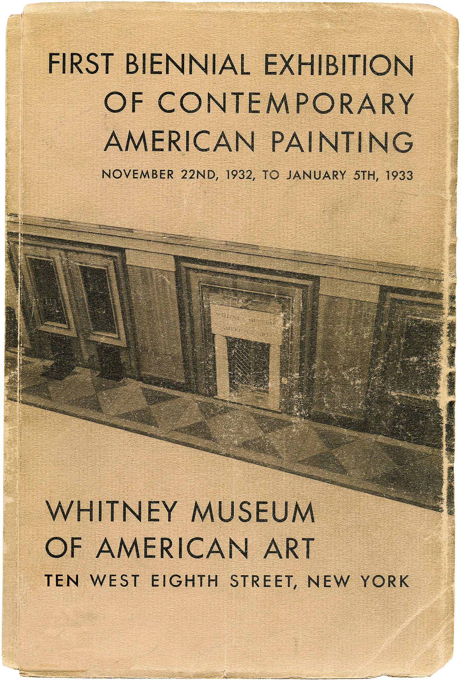 Cover for First Biennial Exhibition of Contemporary American Painting catalogue