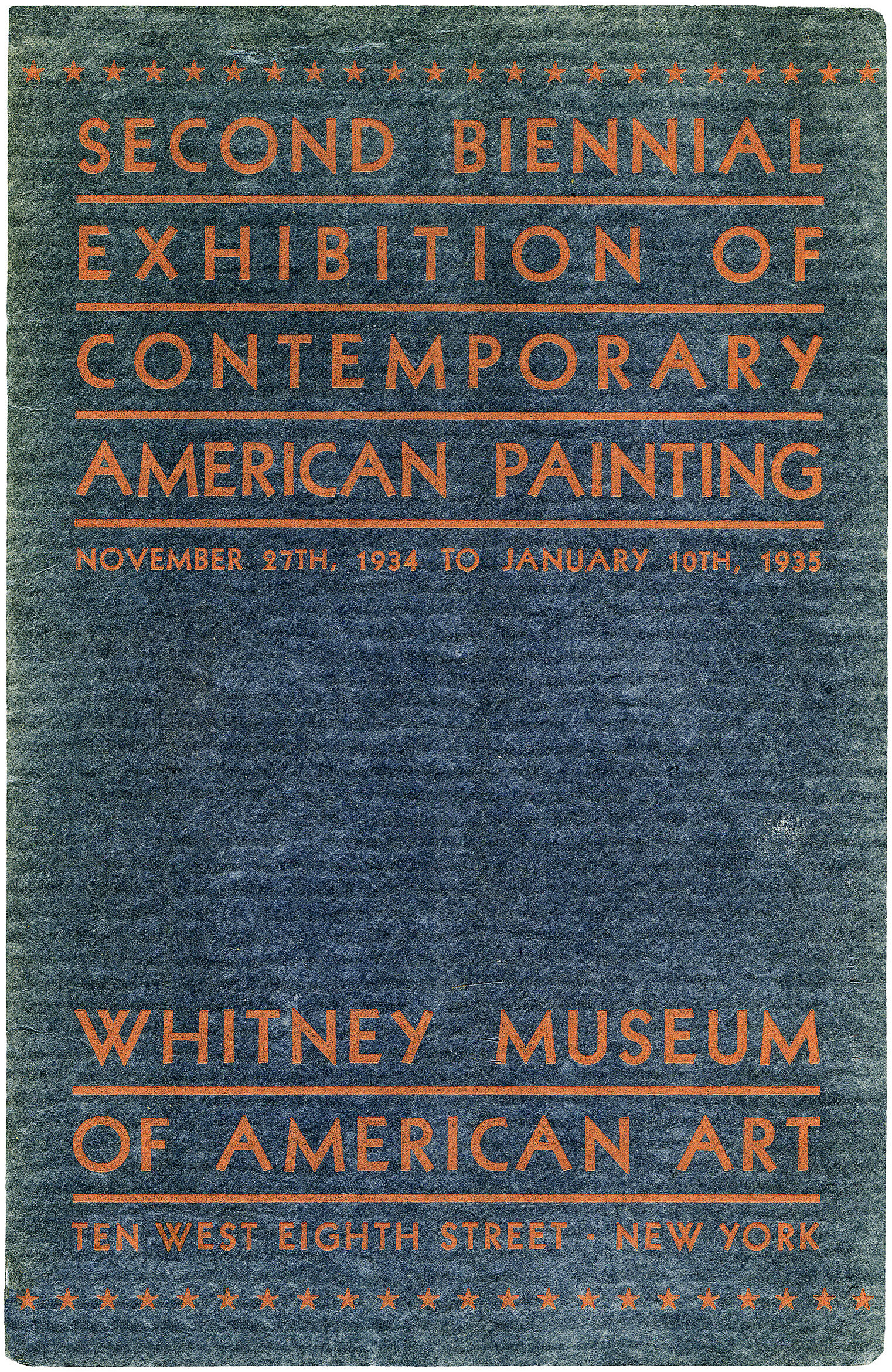 Cover for Second Biennial Exhibition of Contemporary American Painting catalogue