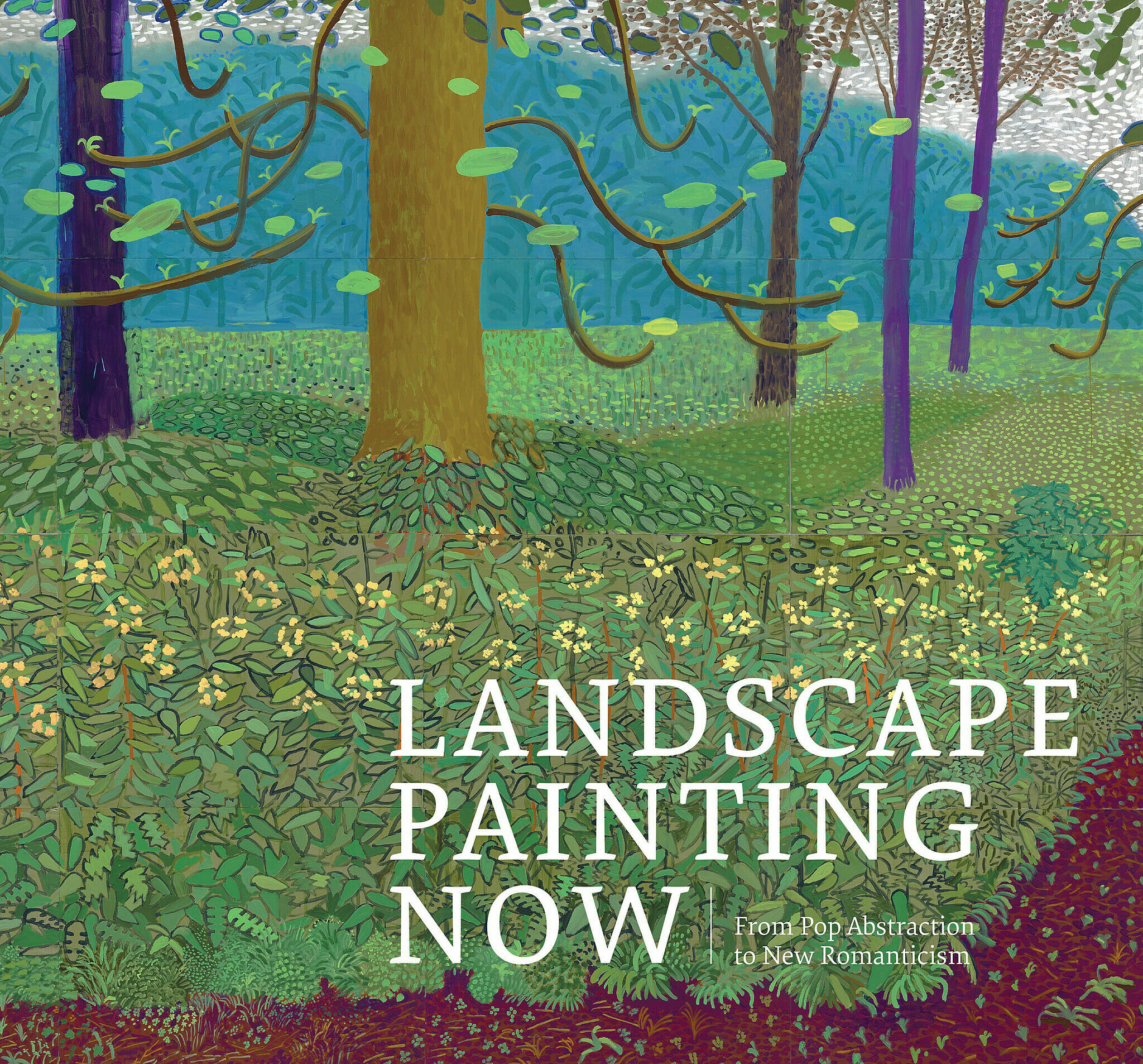 Book cover for Landscape Painting Now, featuring David Hockney's artwork Under the Trees, Bigger.