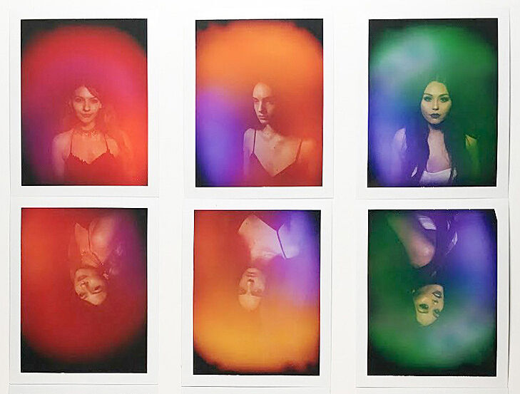 A grid of six aura photographs.