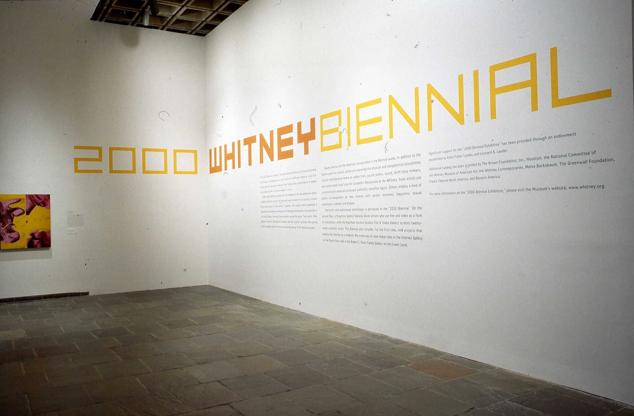 Wall text for the 2000 Whitney Biennial exhibition.