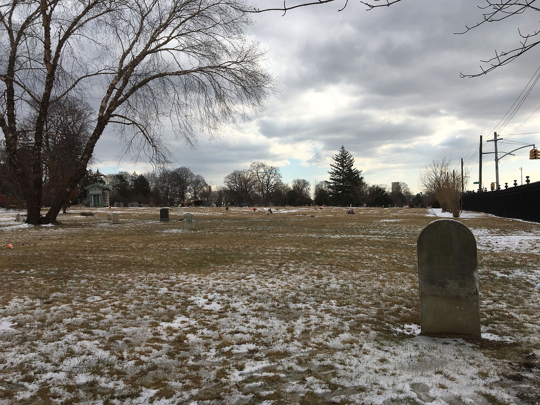 A photograph of Green-Wood Cemetery