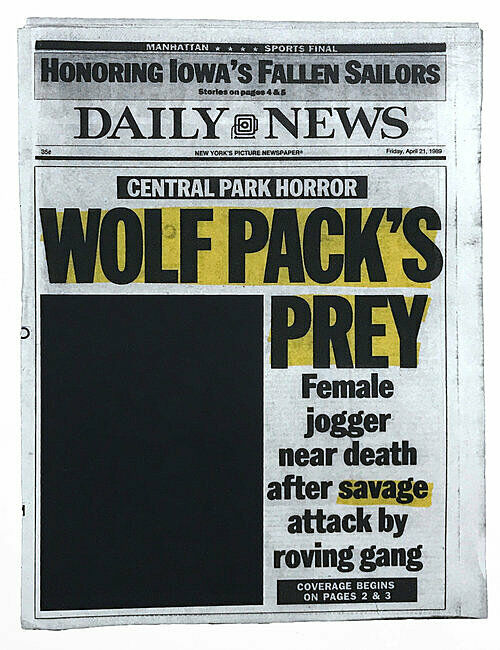 A newspaper print.