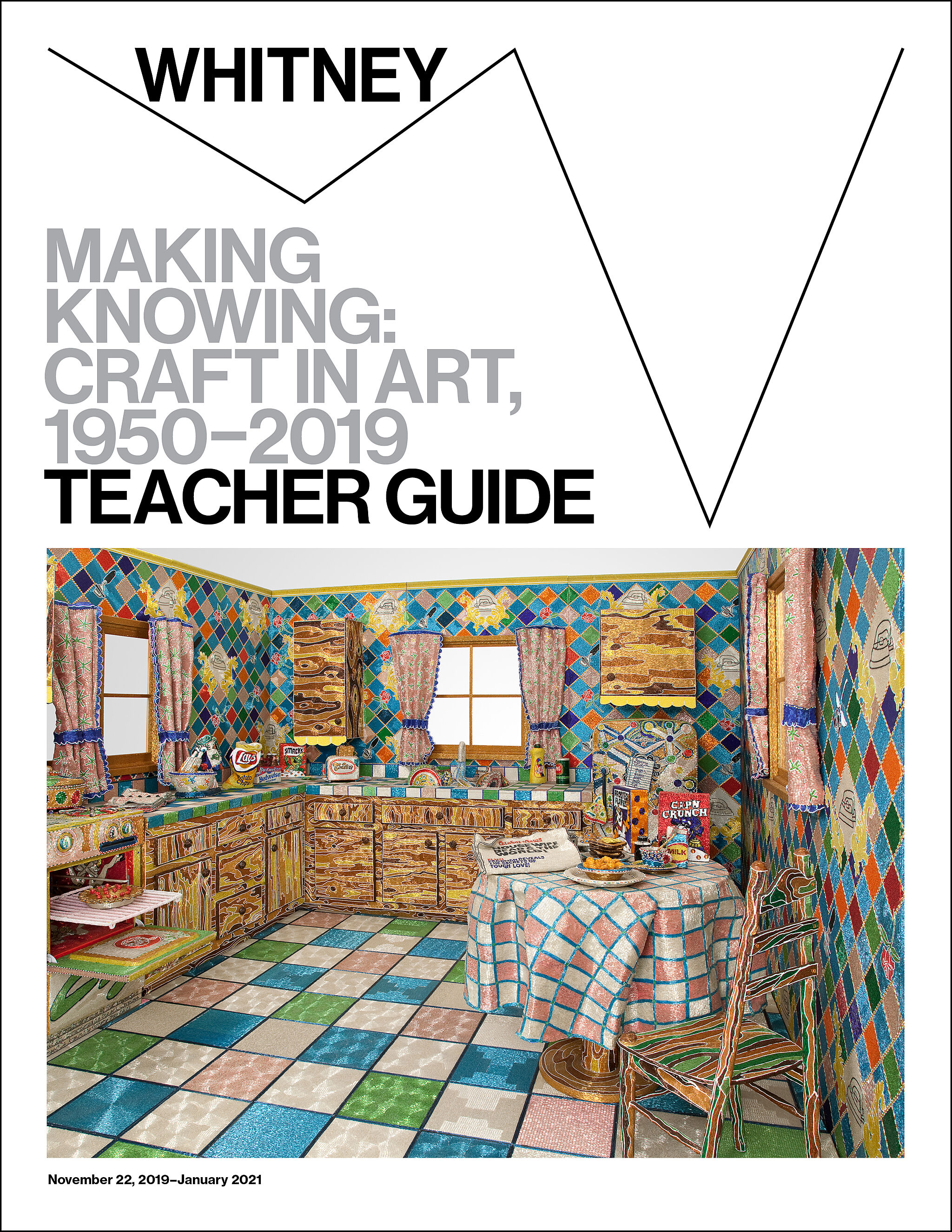 A teacher guide cover design featuring an artwork by Liza Lou.