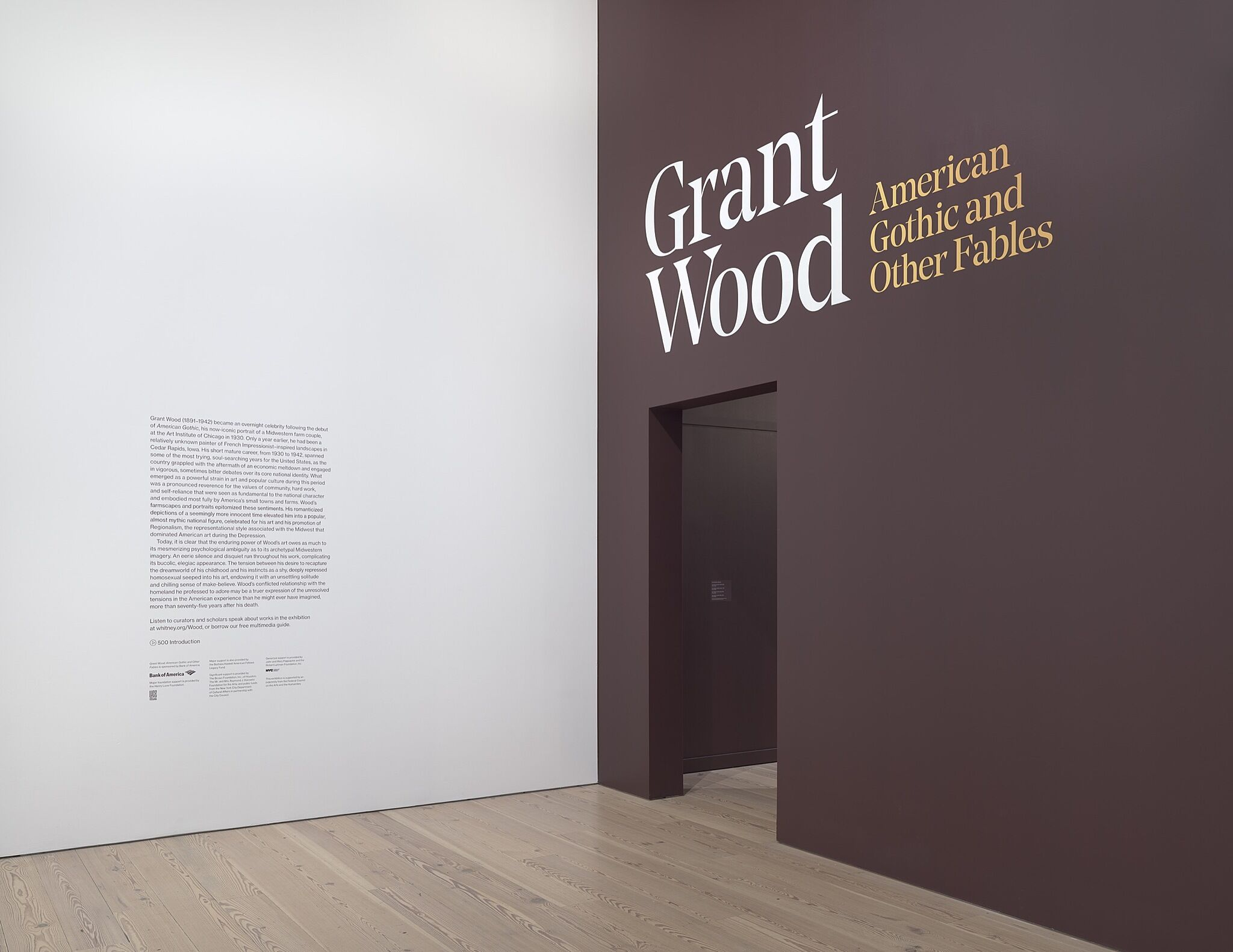 Wall text opening an exhibition.