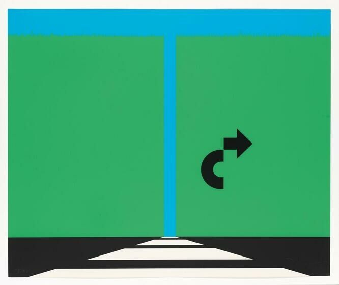 Two green rectangles on a blue background with a black arrow pointing to the right.