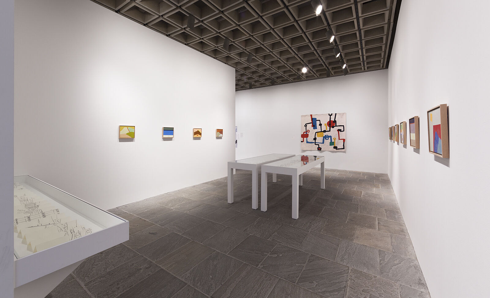 A gallery filled with works of art.
