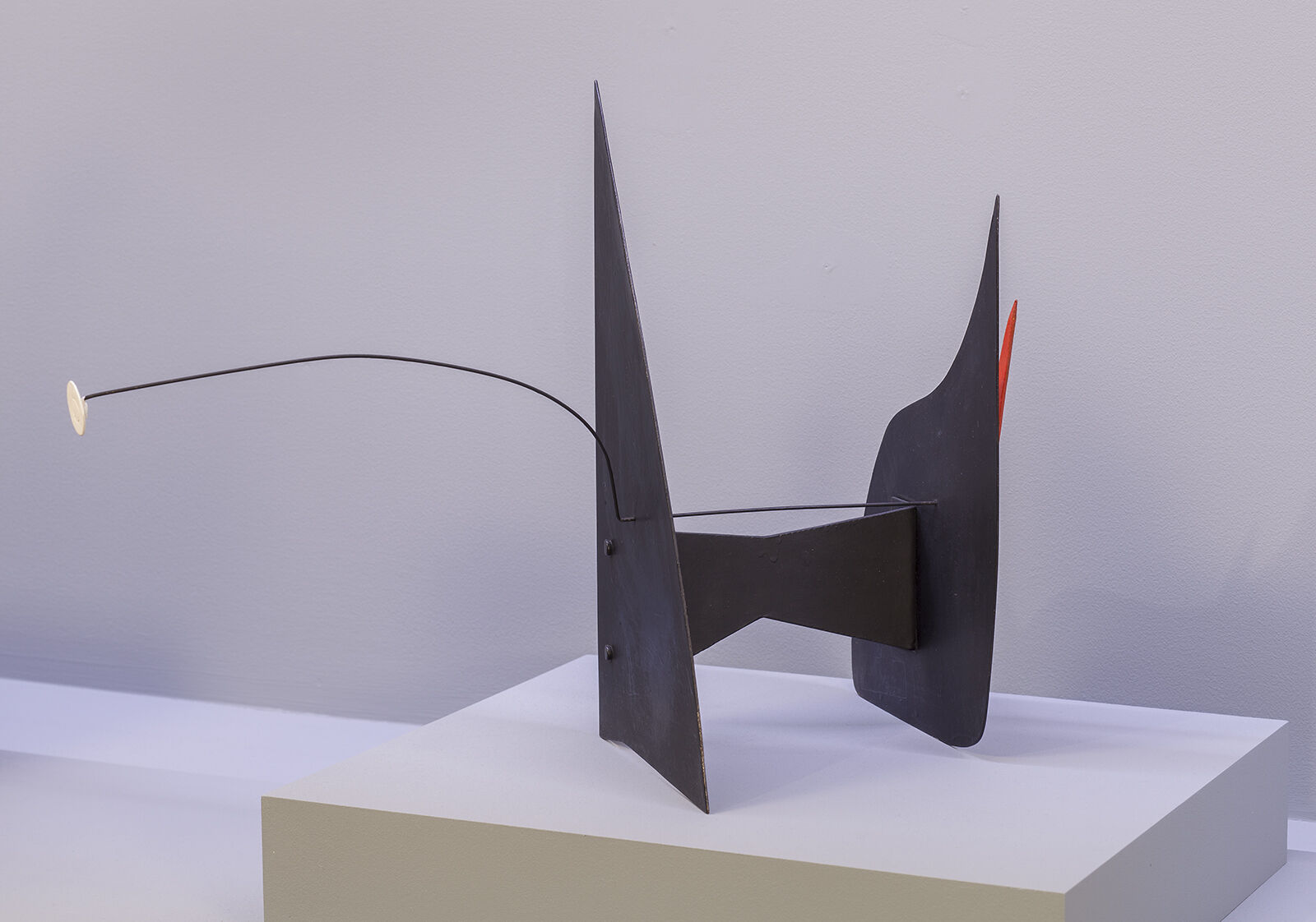 A sculpture in a gallery.